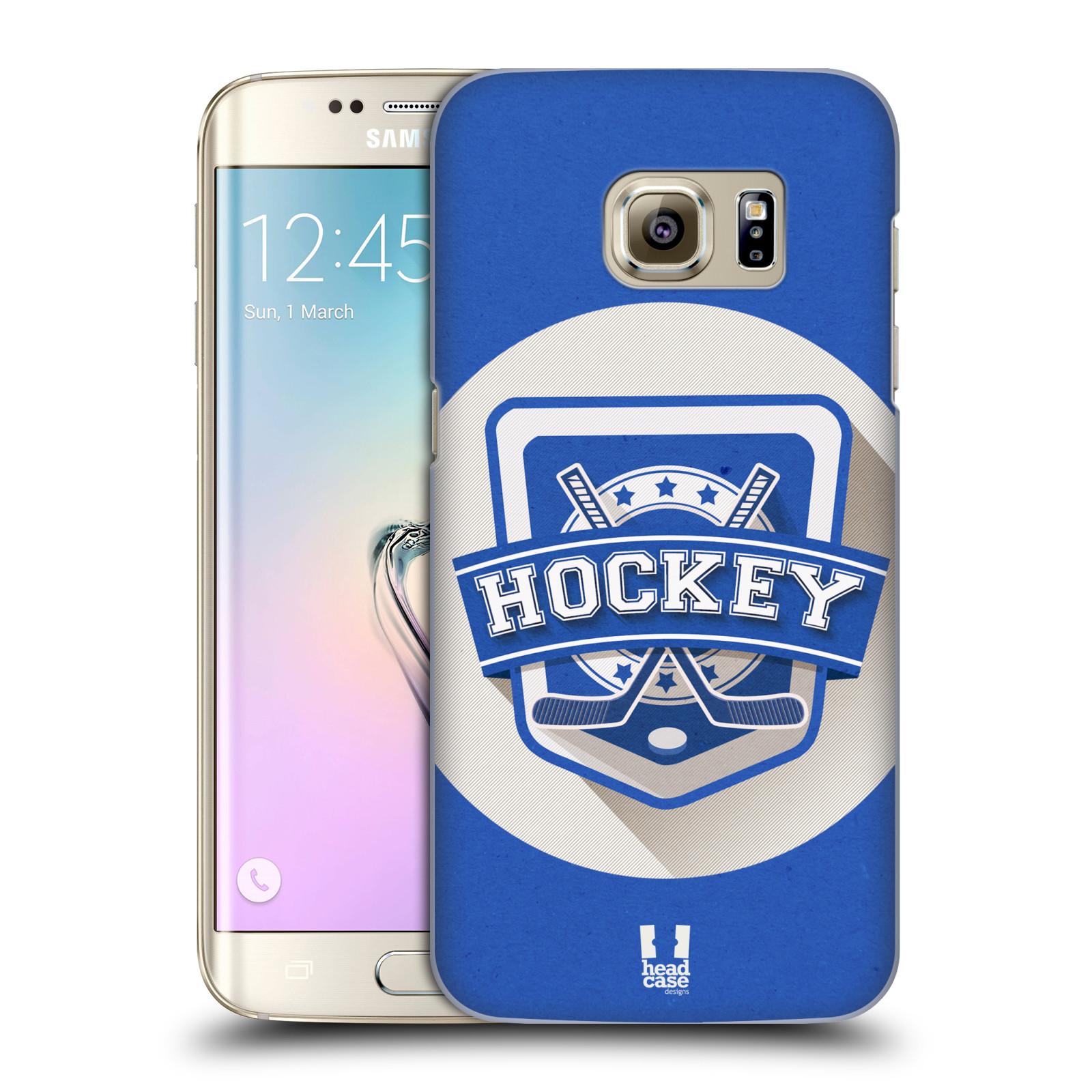 Plastové pouzdro na mobil Samsung Galaxy S7 Edge HEAD CASE HOKEJ (Kryt či obal na mobilní telefon Samsung Galaxy S7 Edge SM-G935F)