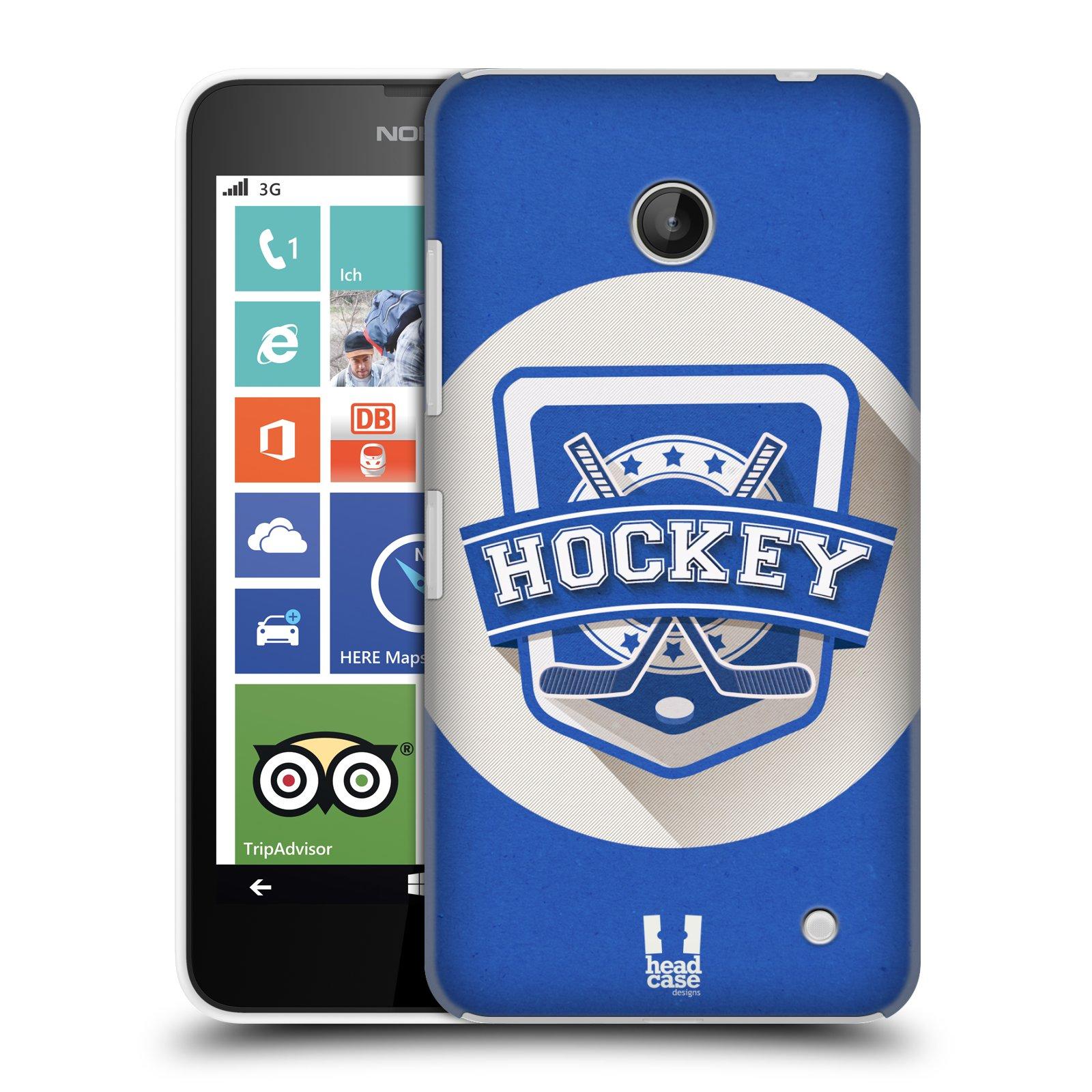 Plastové pouzdro na mobil Nokia Lumia 630 HEAD CASE HOKEJ