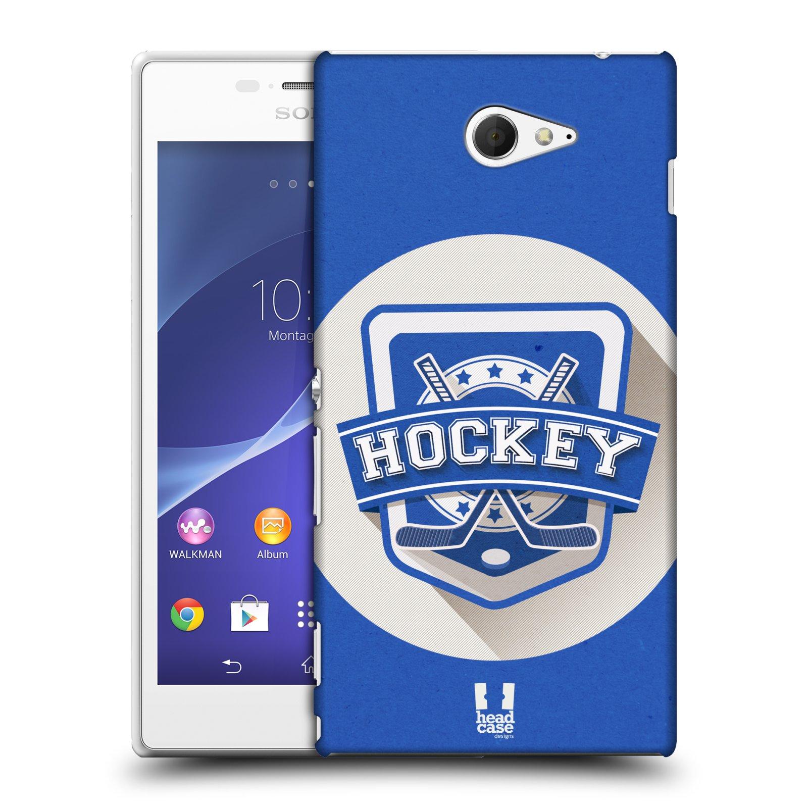 Plastové pouzdro na mobil Sony Xperia M2 D2303 HEAD CASE HOKEJ (Kryt či obal na mobilní telefon Sony Xperia M2 )