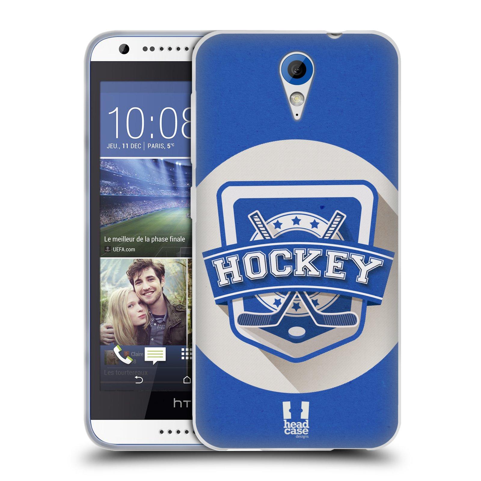 Silikonové pouzdro na mobil HTC Desire 620 HEAD CASE HOKEJ (Silikonový kryt či obal na mobilní telefon HTC Desire 620)