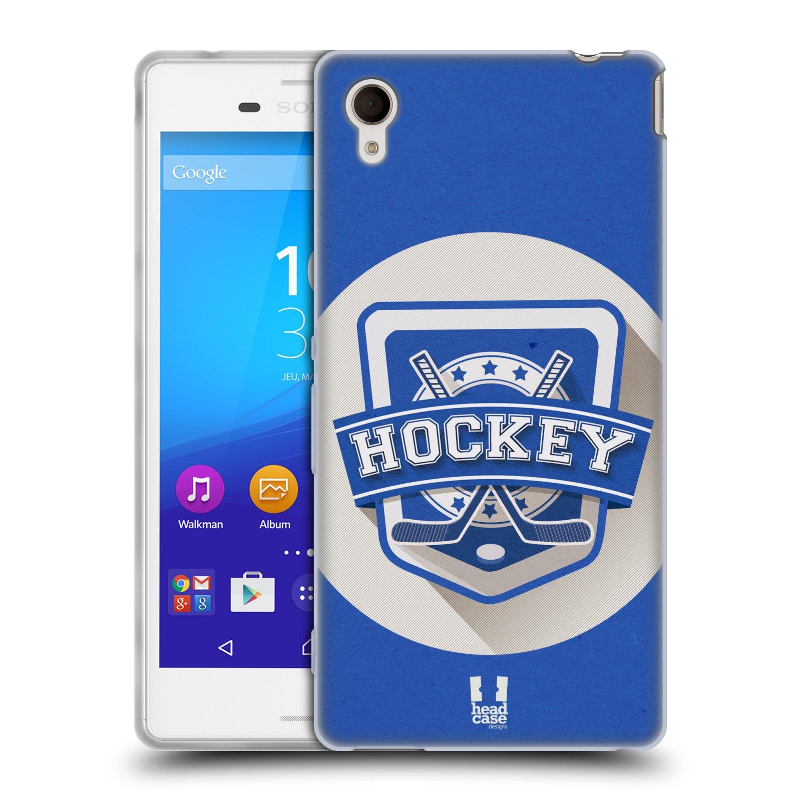 Silikonové pouzdro na mobil Sony Xperia M4 Aqua E2303 HEAD CASE HOKEJ (Silikonový kryt či obal na mobilní telefon Sony Xperia M4 Aqua a M4 Aqua Dual SIM)