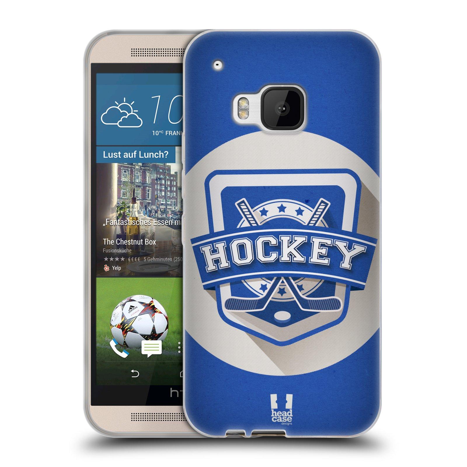 Silikonové pouzdro na mobil HTC ONE M9 HEAD CASE HOKEJ (Silikonový kryt či obal na mobilní telefon HTC ONE M9)