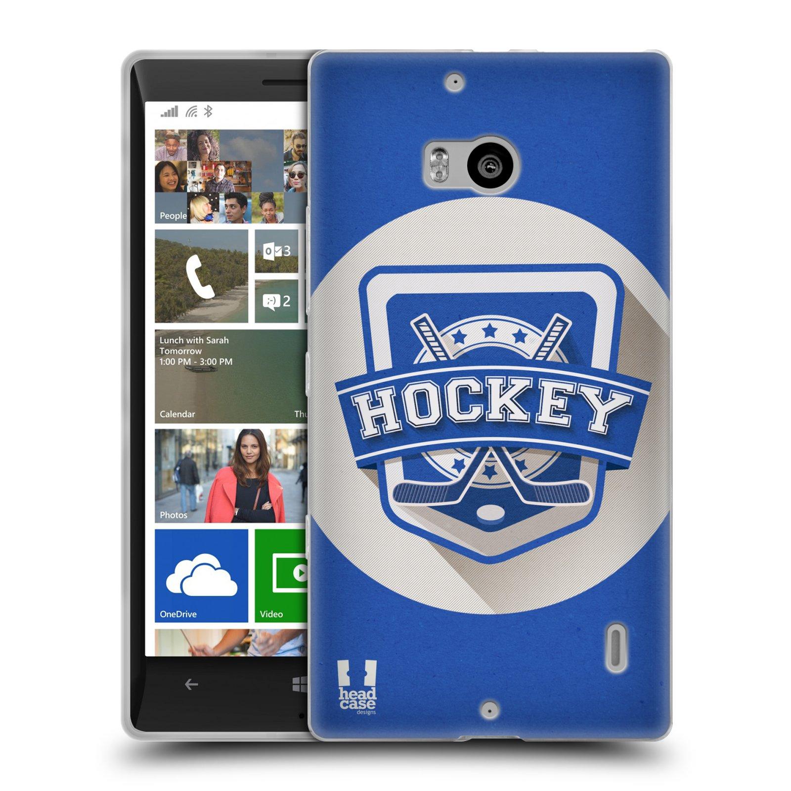 Silikonové pouzdro na mobil Nokia Lumia 930 HEAD CASE HOKEJ (Silikonový kryt či obal na mobilní telefon Nokia Lumia 930)