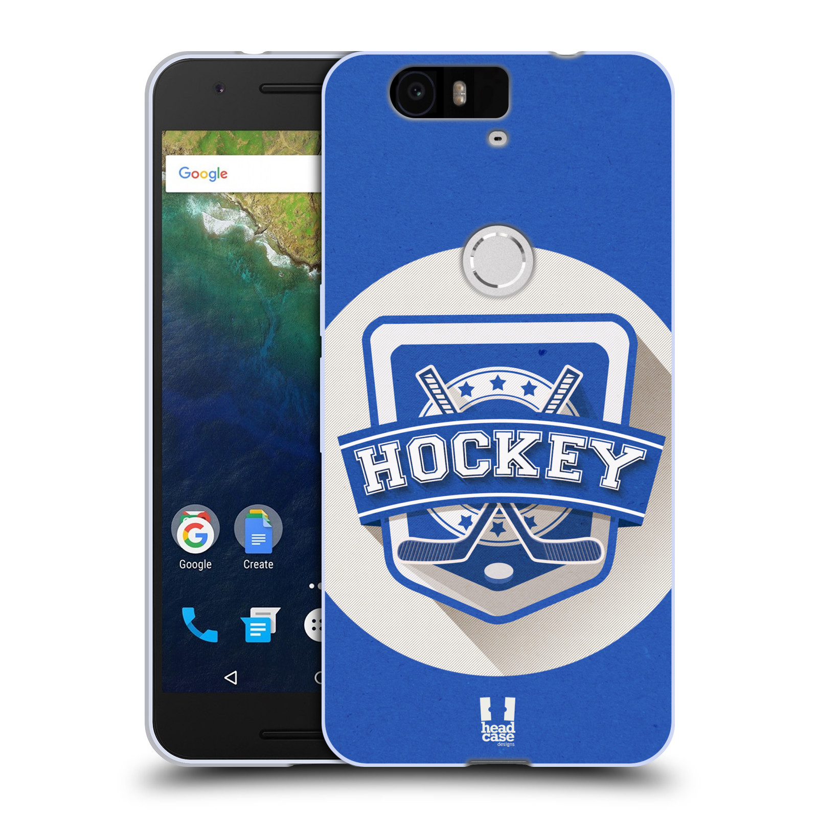 Silikonové pouzdro na mobil Huawei Nexus 6P HEAD CASE HOKEJ (Silikonový kryt či obal na mobilní telefon Huawei Nexus 6P)