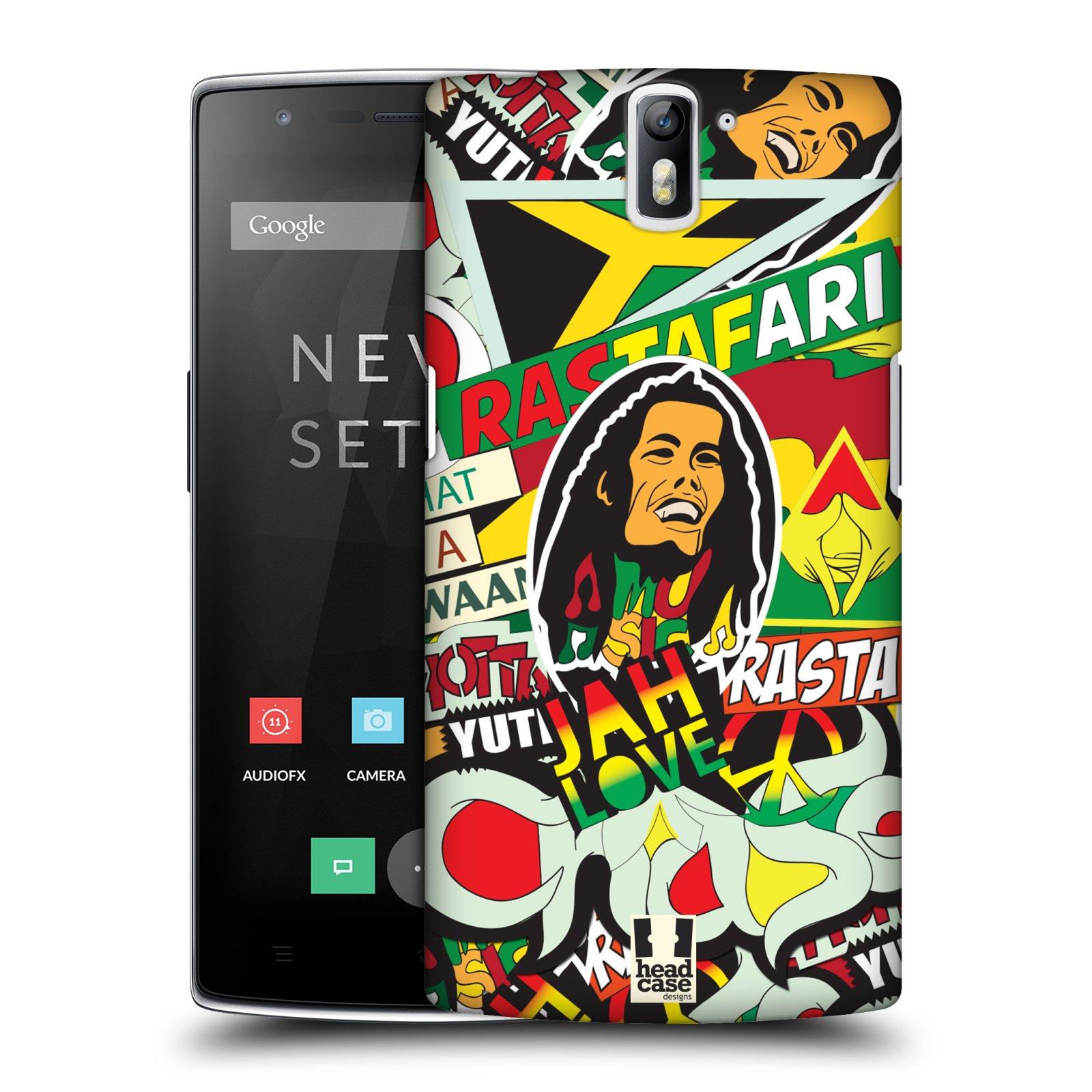 Plastové pouzdro na mobil OnePlus One HEAD CASE RASTA (Kryt či obal na mobilní telefon OnePlus One)