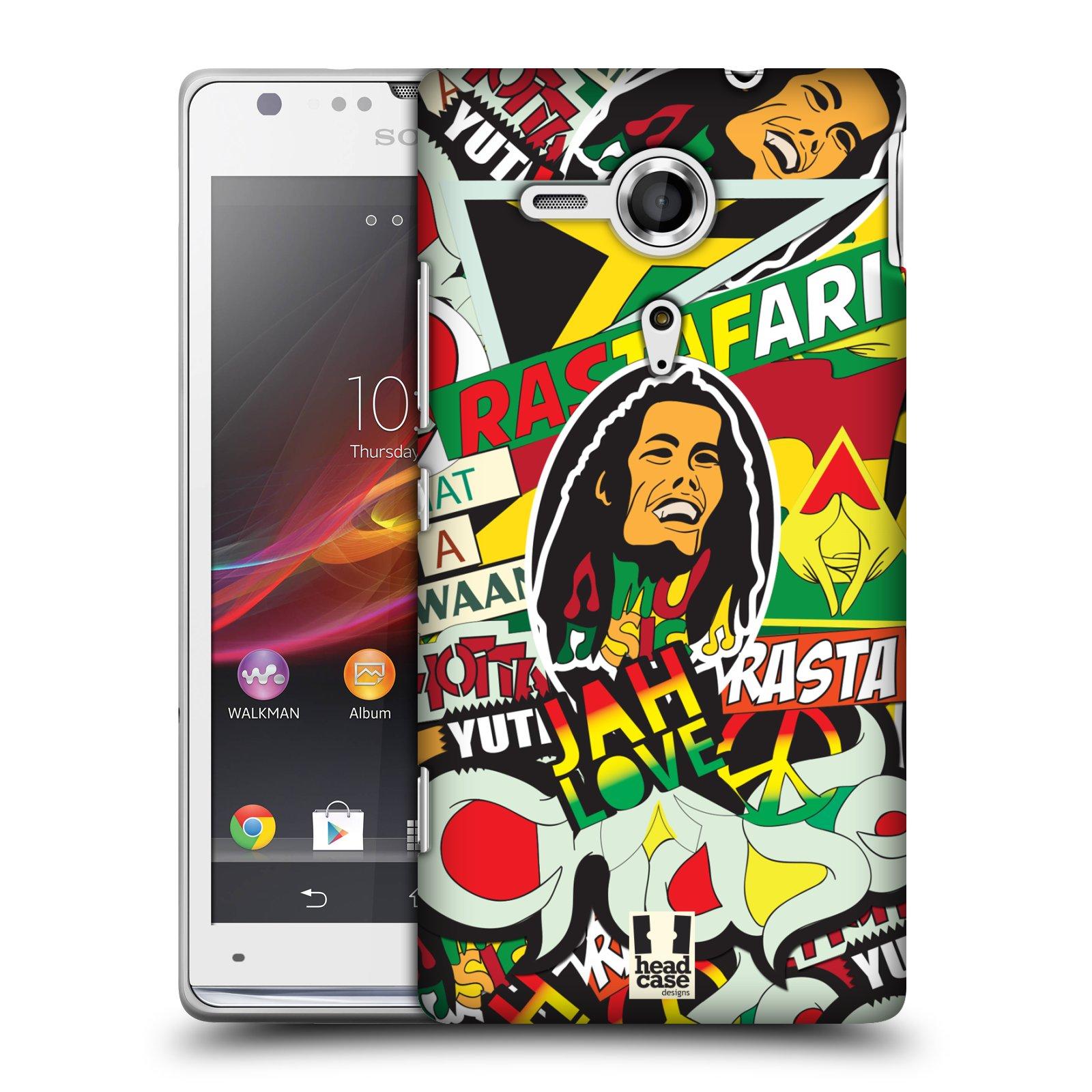 Plastové pouzdro na mobil Sony Xperia SP C5303 HEAD CASE RASTA (Kryt či obal na mobilní telefon Sony Xperia SP )