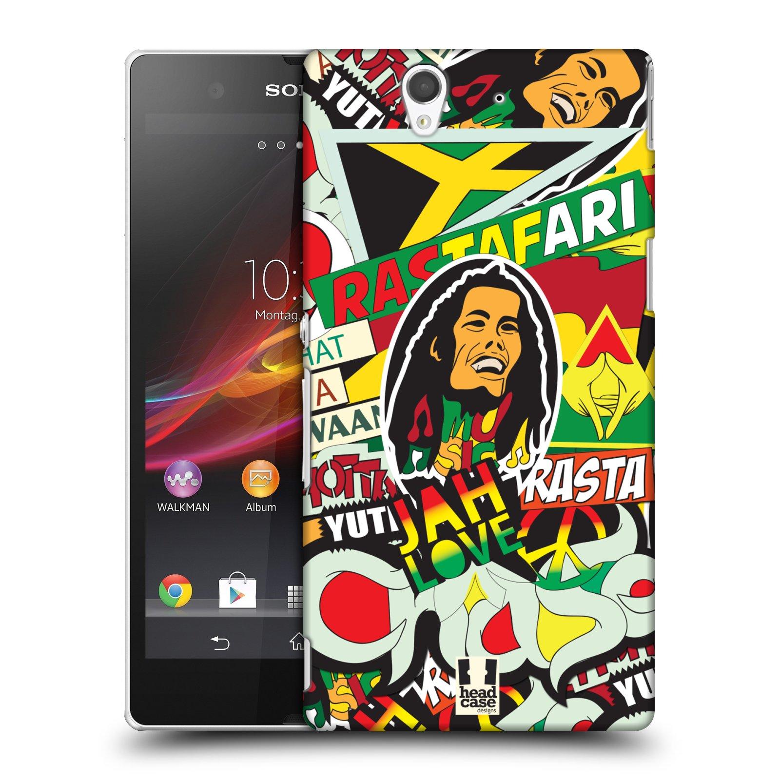 Plastové pouzdro na mobil Sony Xperia Z C6603 HEAD CASE RASTA (Kryt či obal na mobilní telefon Sony Xperia Z )