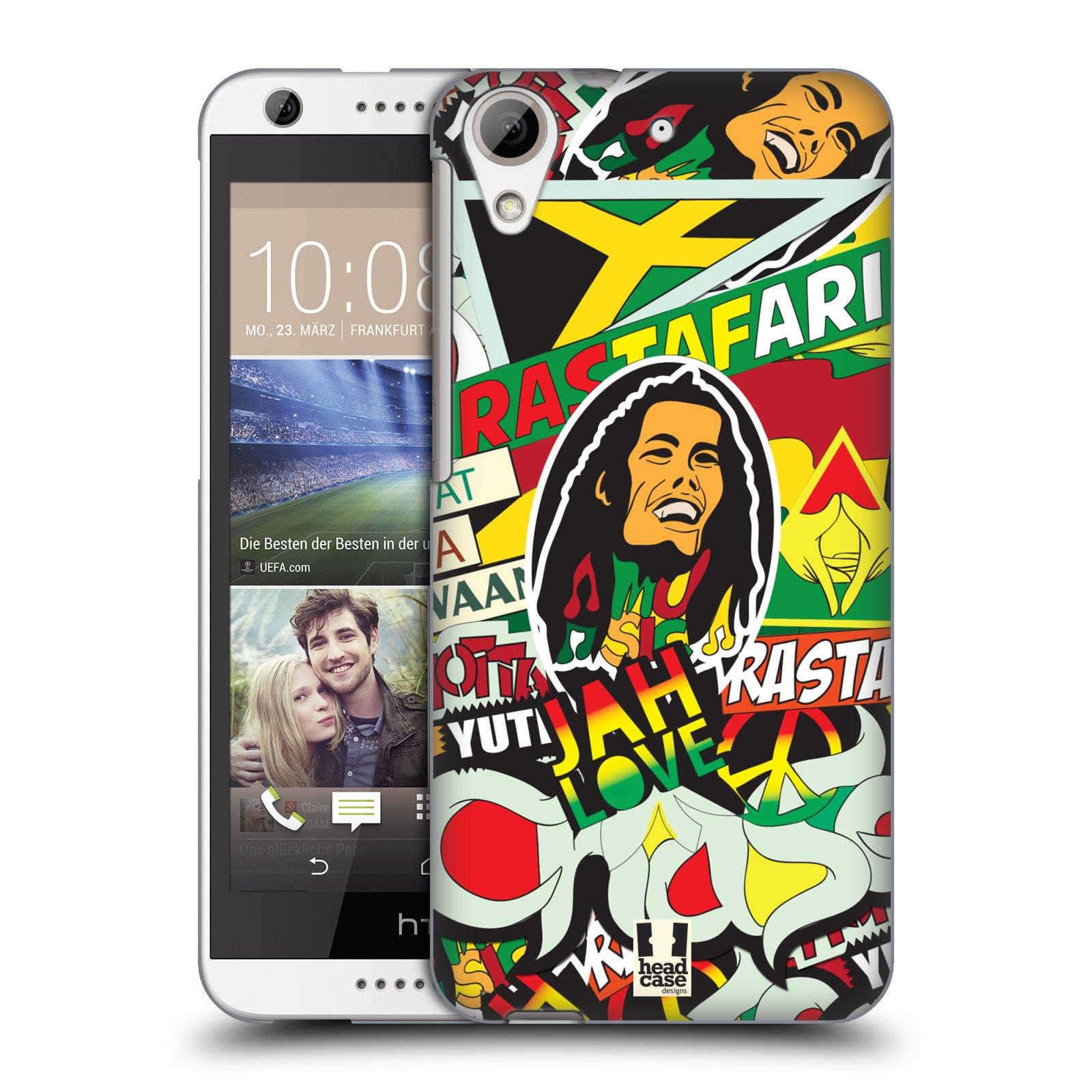 Plastové pouzdro na mobil HTC Desire 626 / 626G HEAD CASE RASTA (Kryt či obal na mobilní telefon HTC Desire 626G Dual SIM a HTC Desire 626)