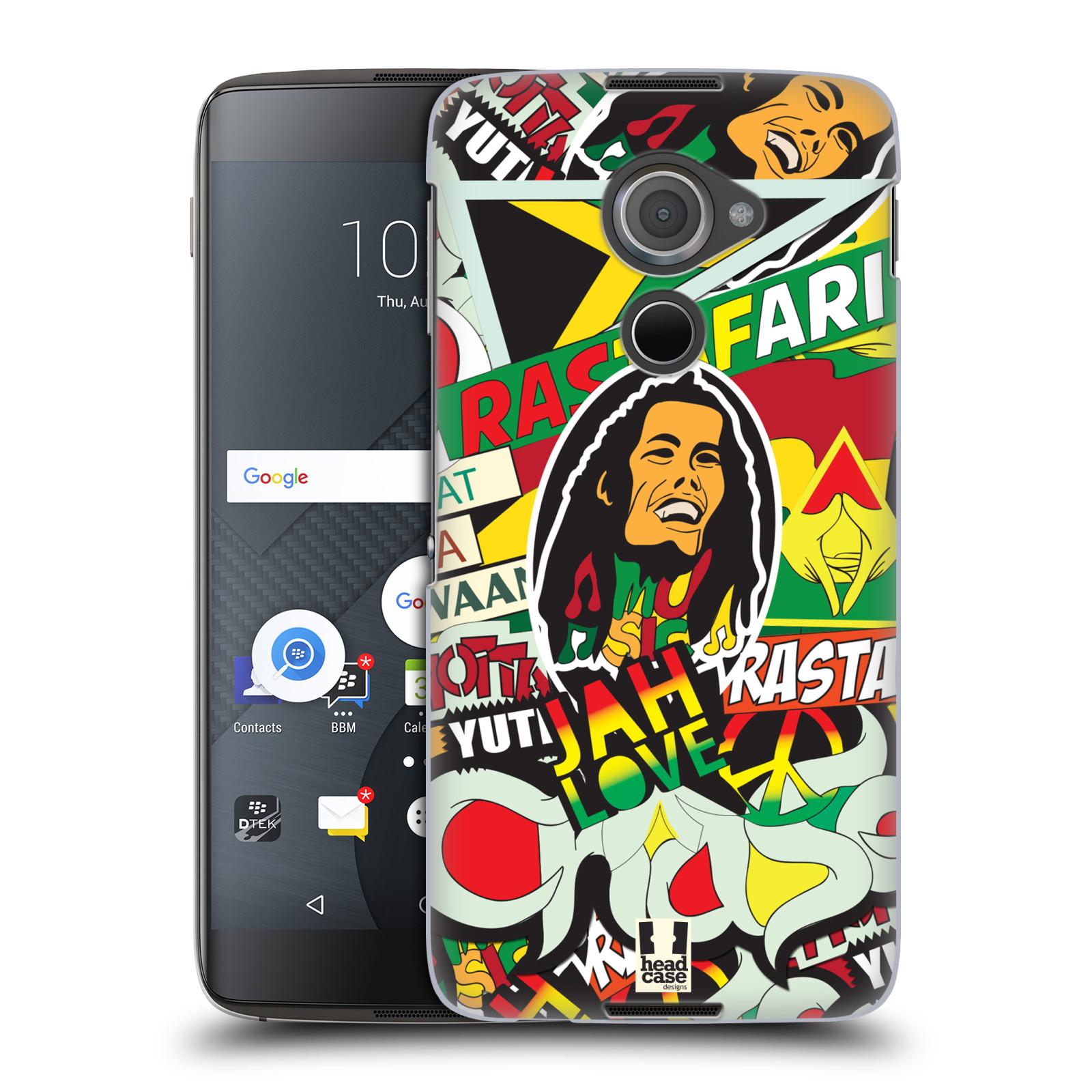 Plastové pouzdro na mobil Blackberry DTEK60 (Argon) - Head Case RASTA (Plastový kryt či obal na mobilní telefon Blackberry DTEK60 (Argon))