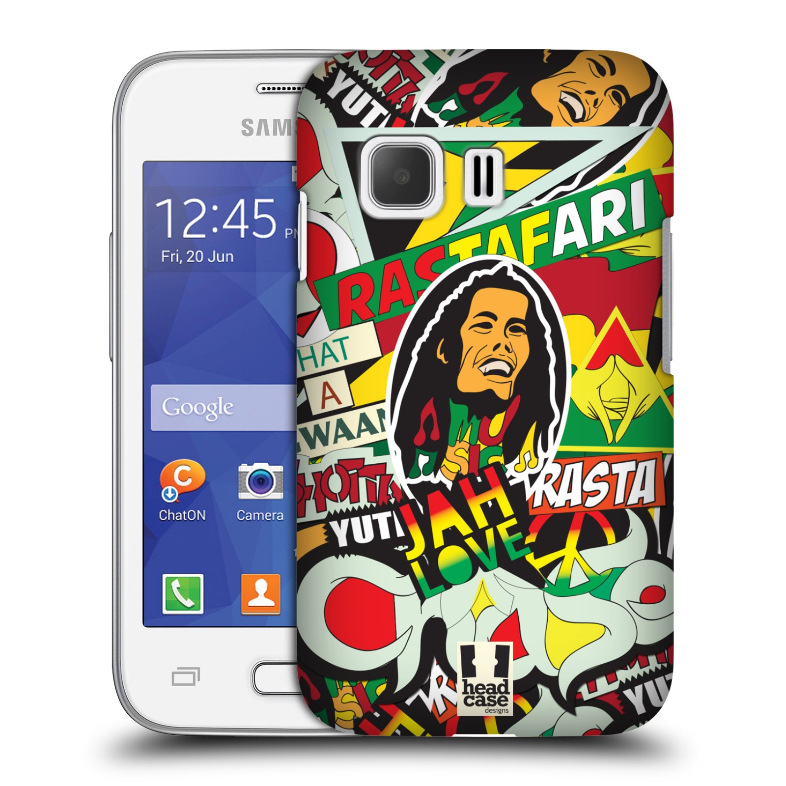 Plastové pouzdro na mobil Samsung Galaxy Young 2 HEAD CASE RASTA (Kryt či obal na mobilní telefon Samsung Galaxy Young 2 SM-G130)