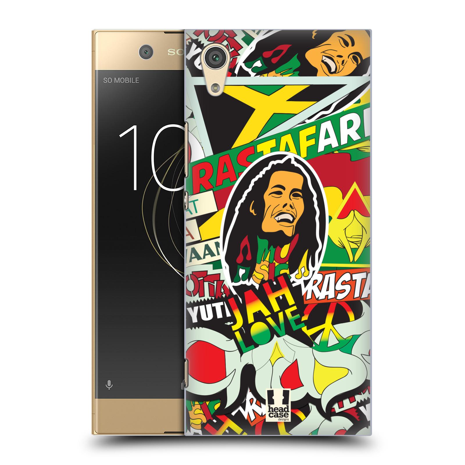 Plastové pouzdro na mobil Sony Xperia XA1 - Head Case - RASTA (Plastový kryt či obal na mobilní telefon Sony Xperia XA1 G3121 s motivem RASTA )