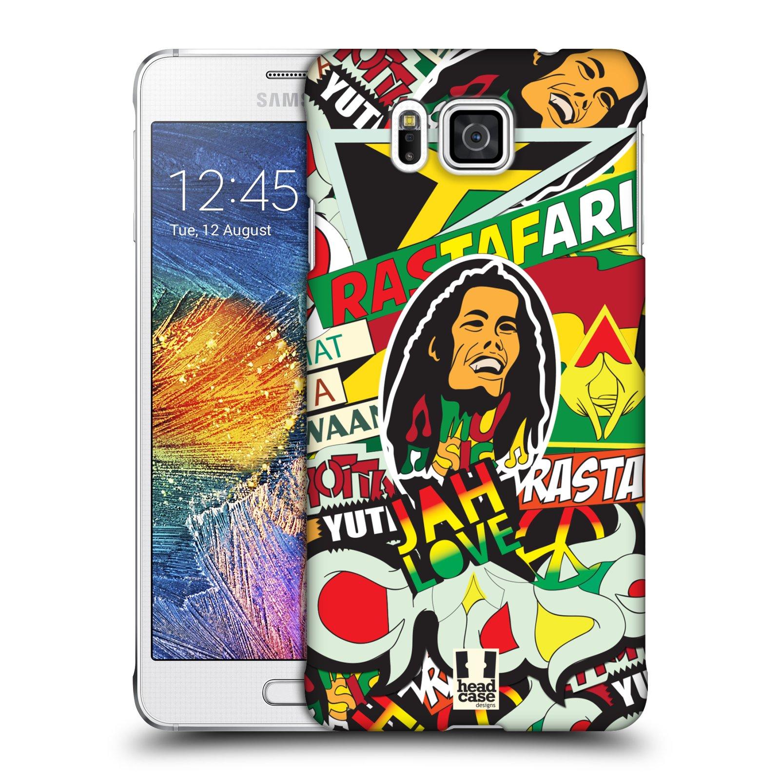 Plastové pouzdro na mobil Samsung Galaxy Alpha HEAD CASE RASTA (Kryt či obal na mobilní telefon Samsung Galaxy Alpha SM-G850)