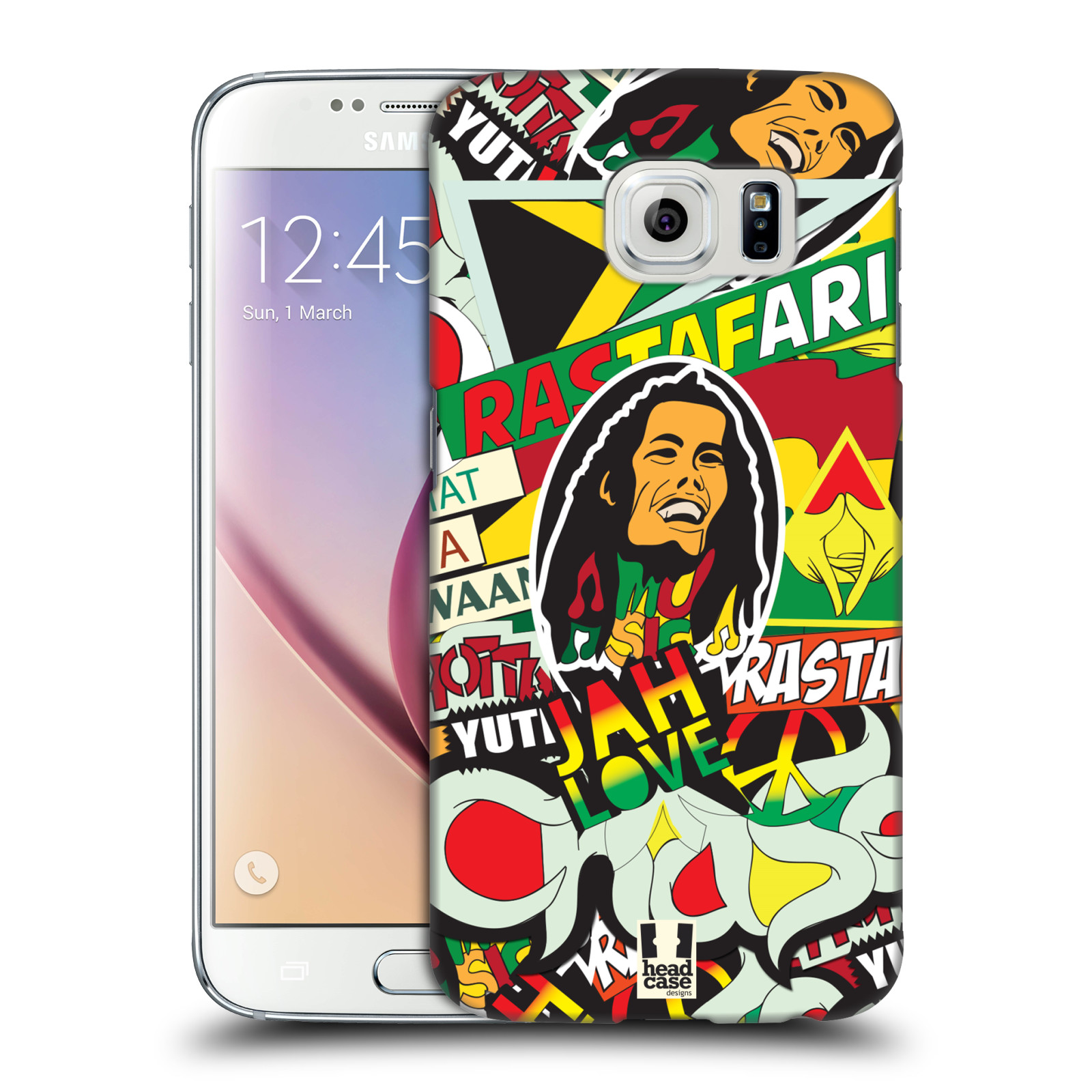 Plastové pouzdro na mobil Samsung Galaxy S6 HEAD CASE RASTA