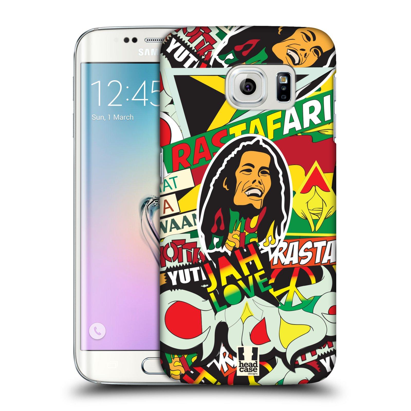Plastové pouzdro na mobil Samsung Galaxy S6 Edge HEAD CASE RASTA (Kryt či obal na mobilní telefon Samsung Galaxy S6 Edge SM-G925F)