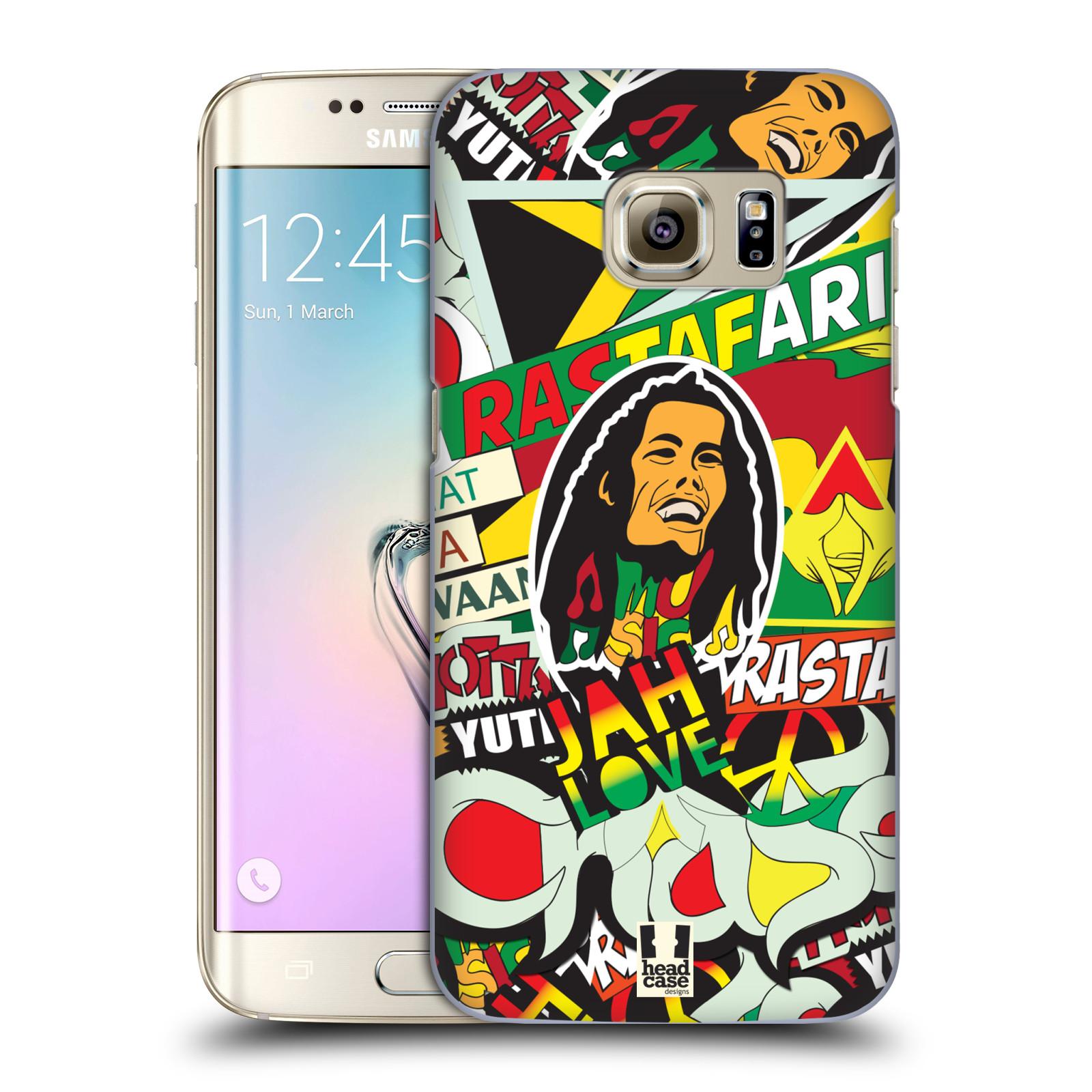 Plastové pouzdro na mobil Samsung Galaxy S7 Edge HEAD CASE RASTA (Kryt či obal na mobilní telefon Samsung Galaxy S7 Edge SM-G935F)