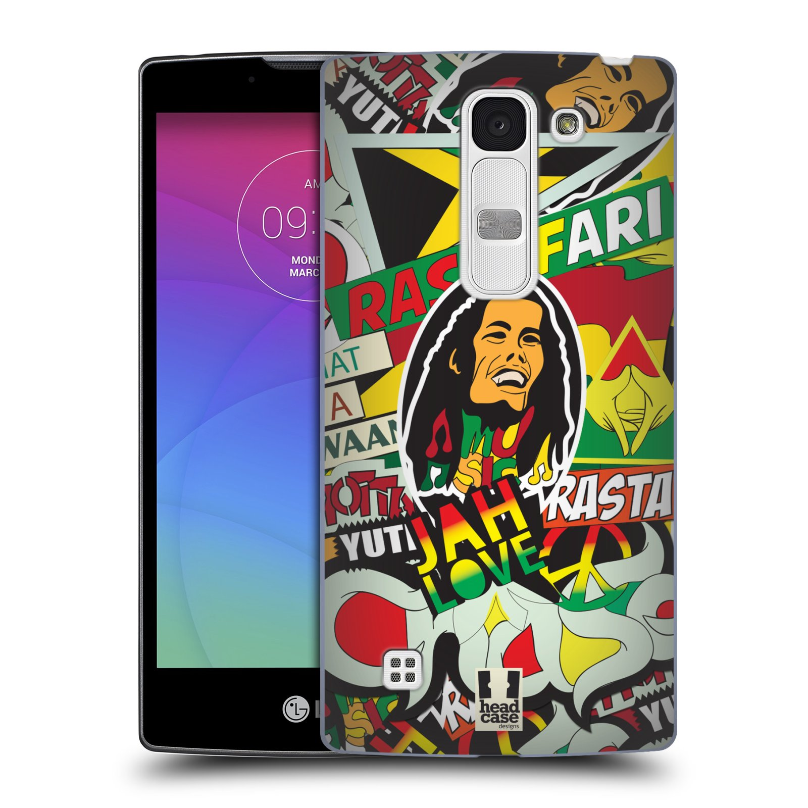 Plastové pouzdro na mobil LG Spirit LTE HEAD CASE RASTA (Kryt či obal na mobilní telefon LG Spirit H420 a LG Spirit LTE H440N)