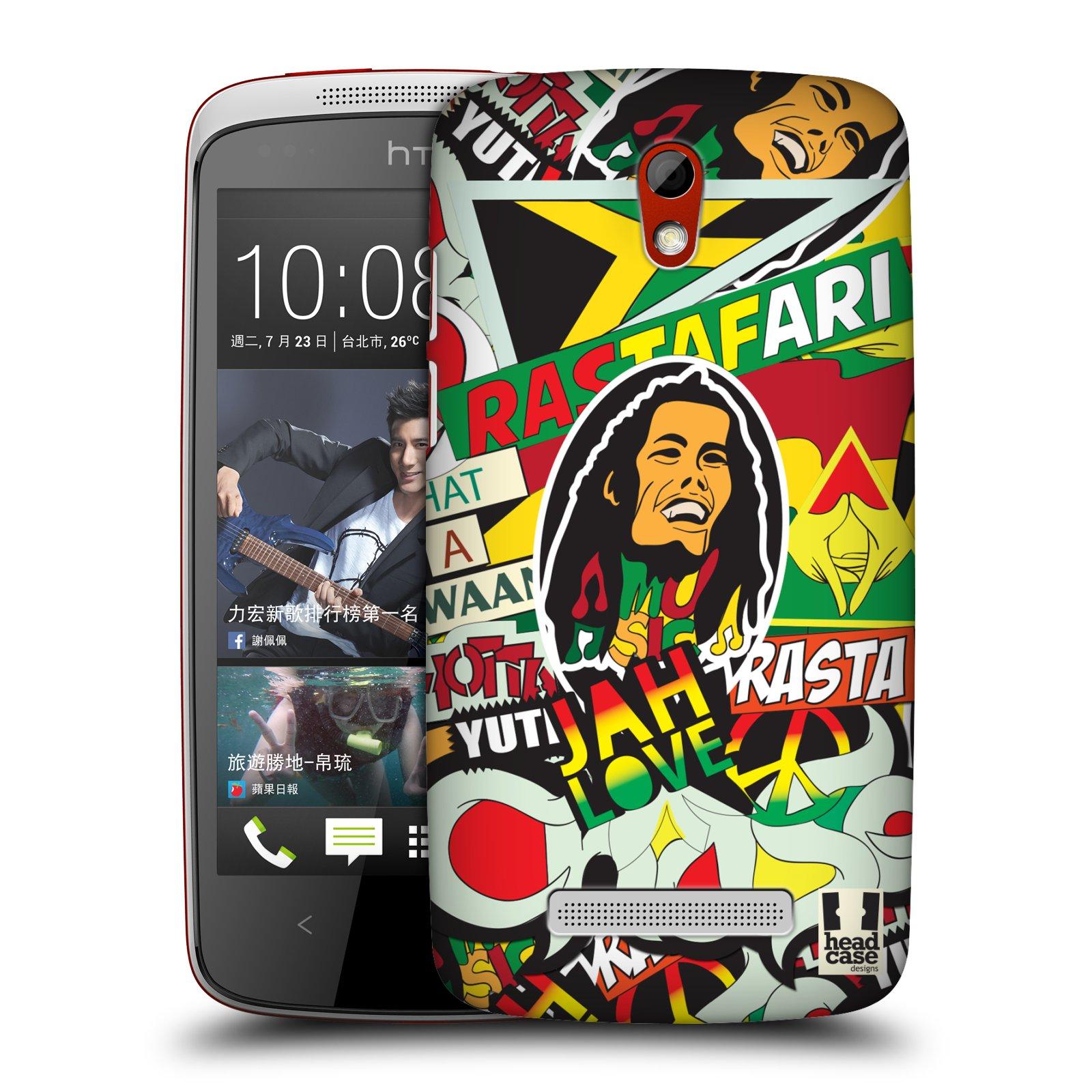 Plastové pouzdro na mobil HTC Desire 500 HEAD CASE RASTA (Kryt či obal na mobilní telefon HTC Desire 500)
