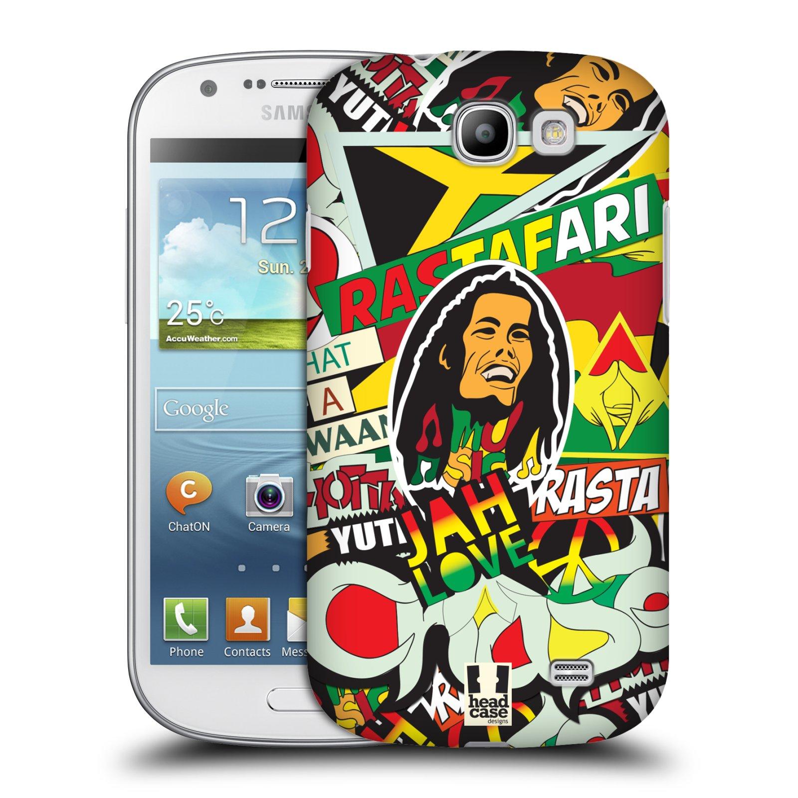 Plastové pouzdro na mobil Samsung Galaxy Express HEAD CASE RASTA (Kryt či obal na mobilní telefon Samsung Galaxy Express GT-i8730)