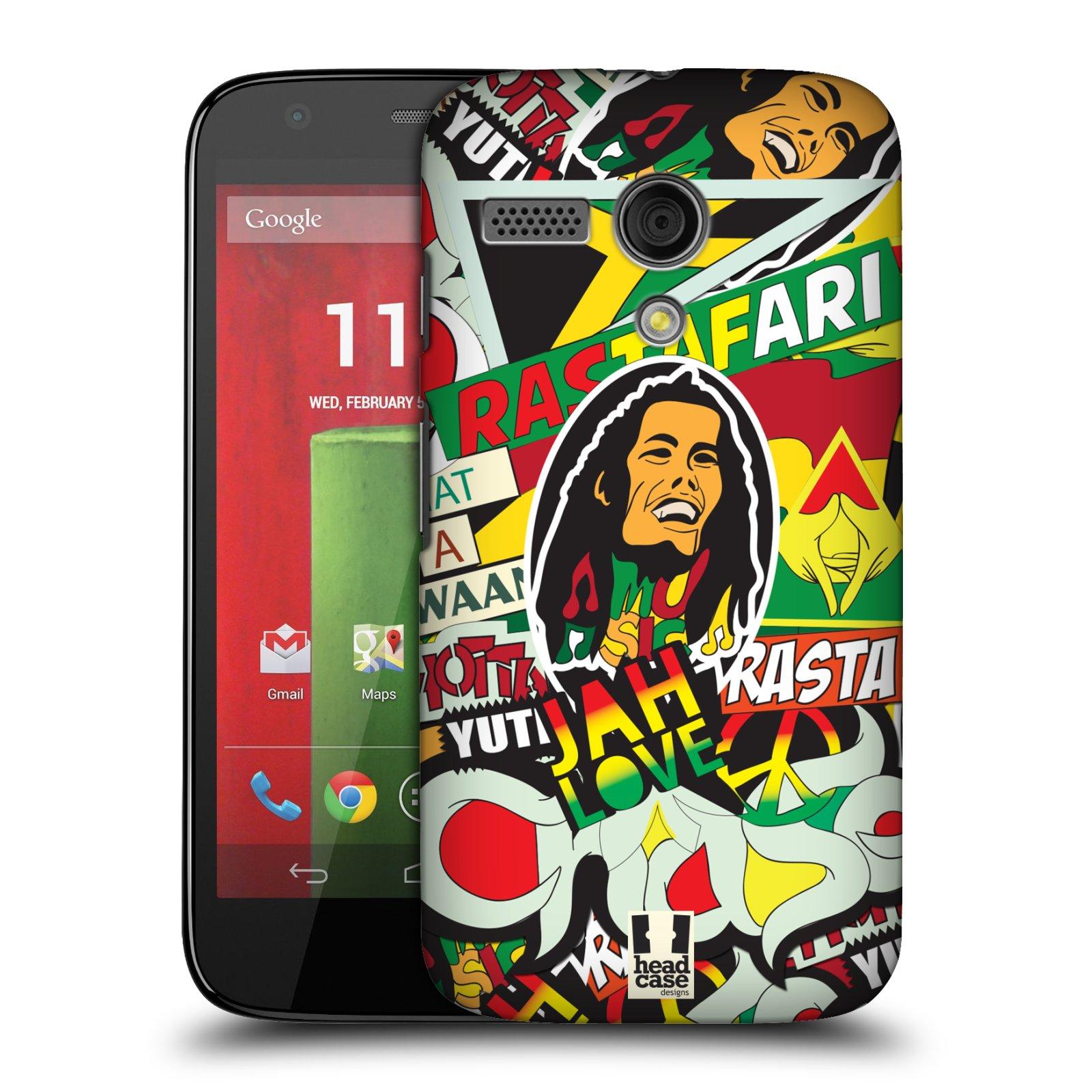 Plastové pouzdro na mobil Motorola Moto G HEAD CASE RASTA (Kryt či obal na mobilní telefon Motorola Moto G)