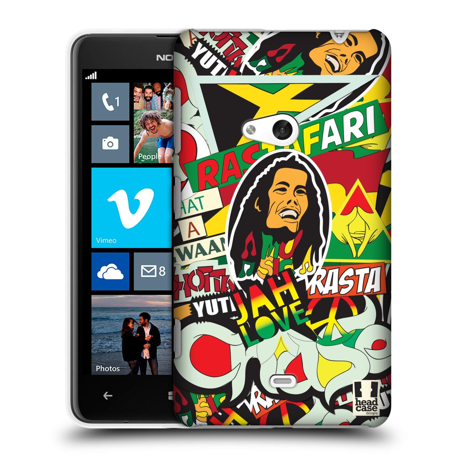 Plastové pouzdro na mobil Nokia Lumia 625 HEAD CASE RASTA