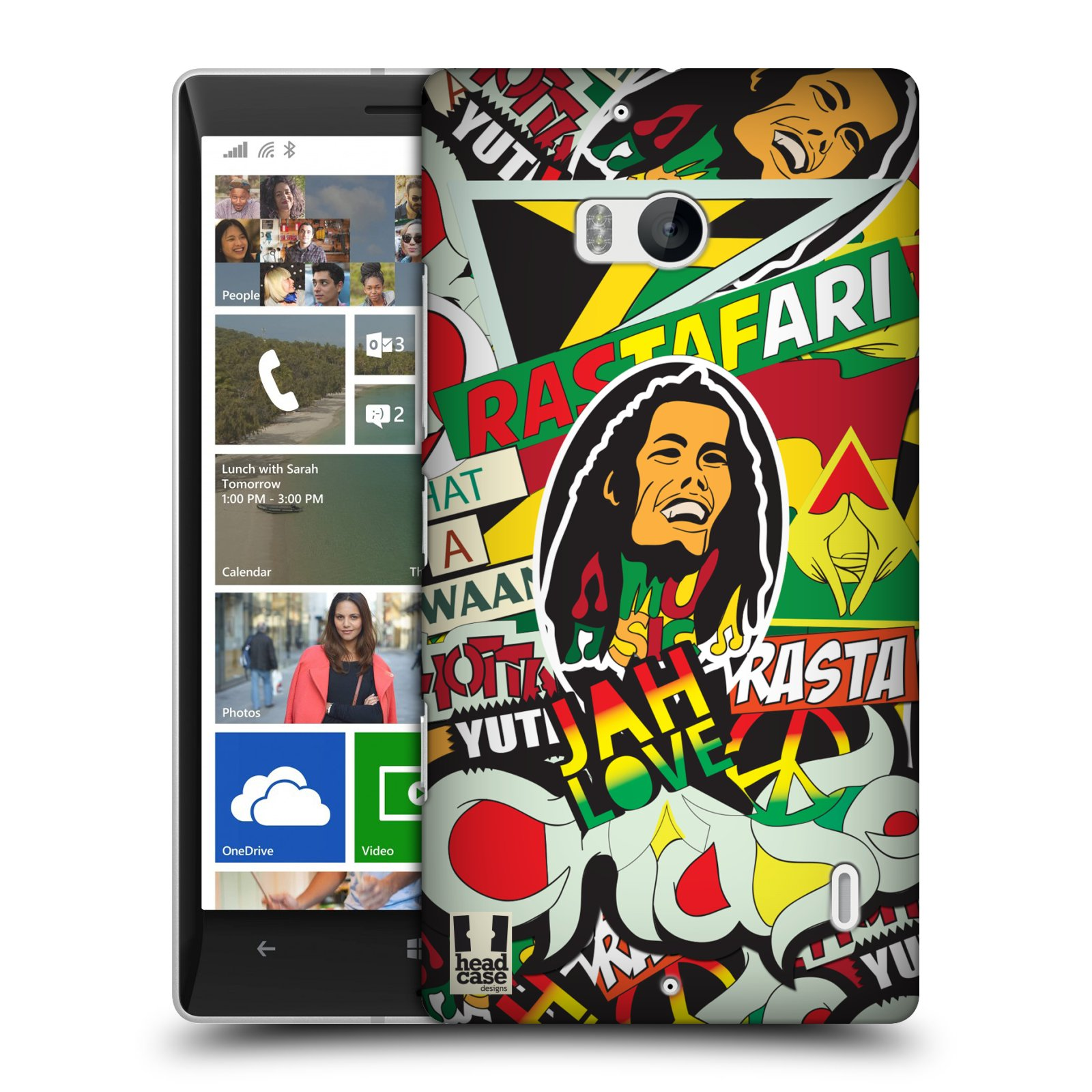 Plastové pouzdro na mobil Nokia Lumia 930 HEAD CASE RASTA (Kryt či obal na mobilní telefon Nokia Lumia 930)
