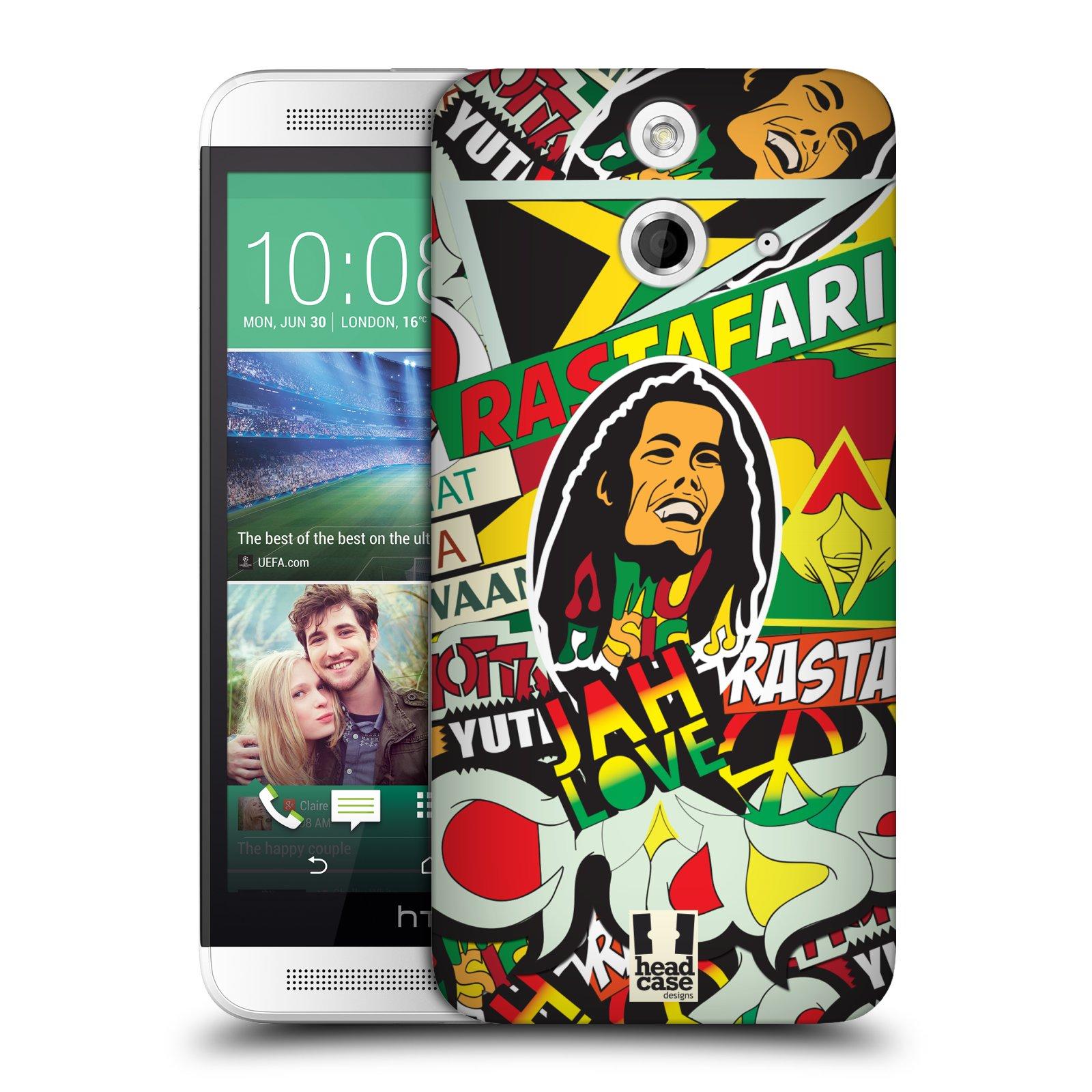 Plastové pouzdro na mobil HTC ONE E8 HEAD CASE RASTA (Kryt či obal na mobilní telefon HTC ONE E8)