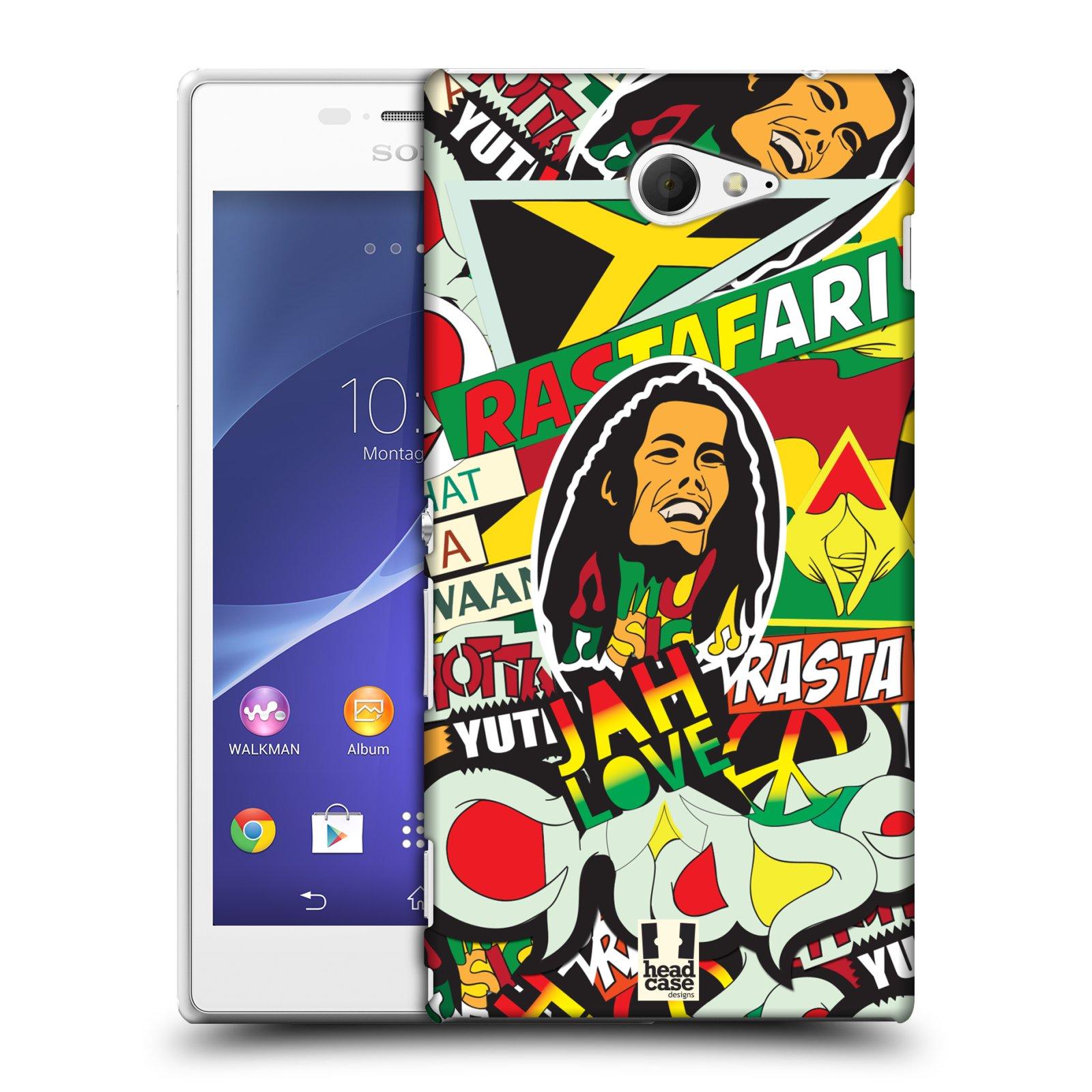 Plastové pouzdro na mobil Sony Xperia M2 D2303 HEAD CASE RASTA (Kryt či obal na mobilní telefon Sony Xperia M2 )
