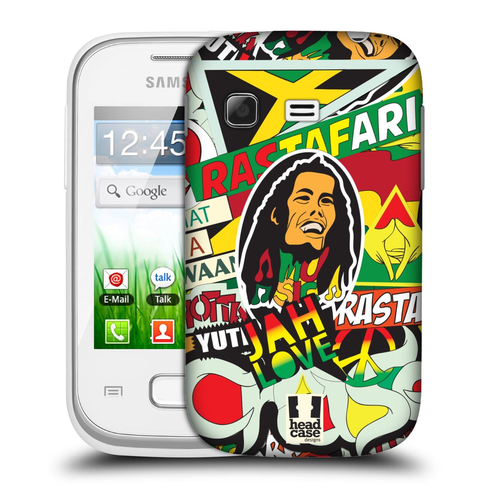 Plastové pouzdro na mobil Samsung Galaxy Pocket HEAD CASE RASTA (Kryt či obal na mobilní telefon Samsung Galaxy Pocket GT-S5300)