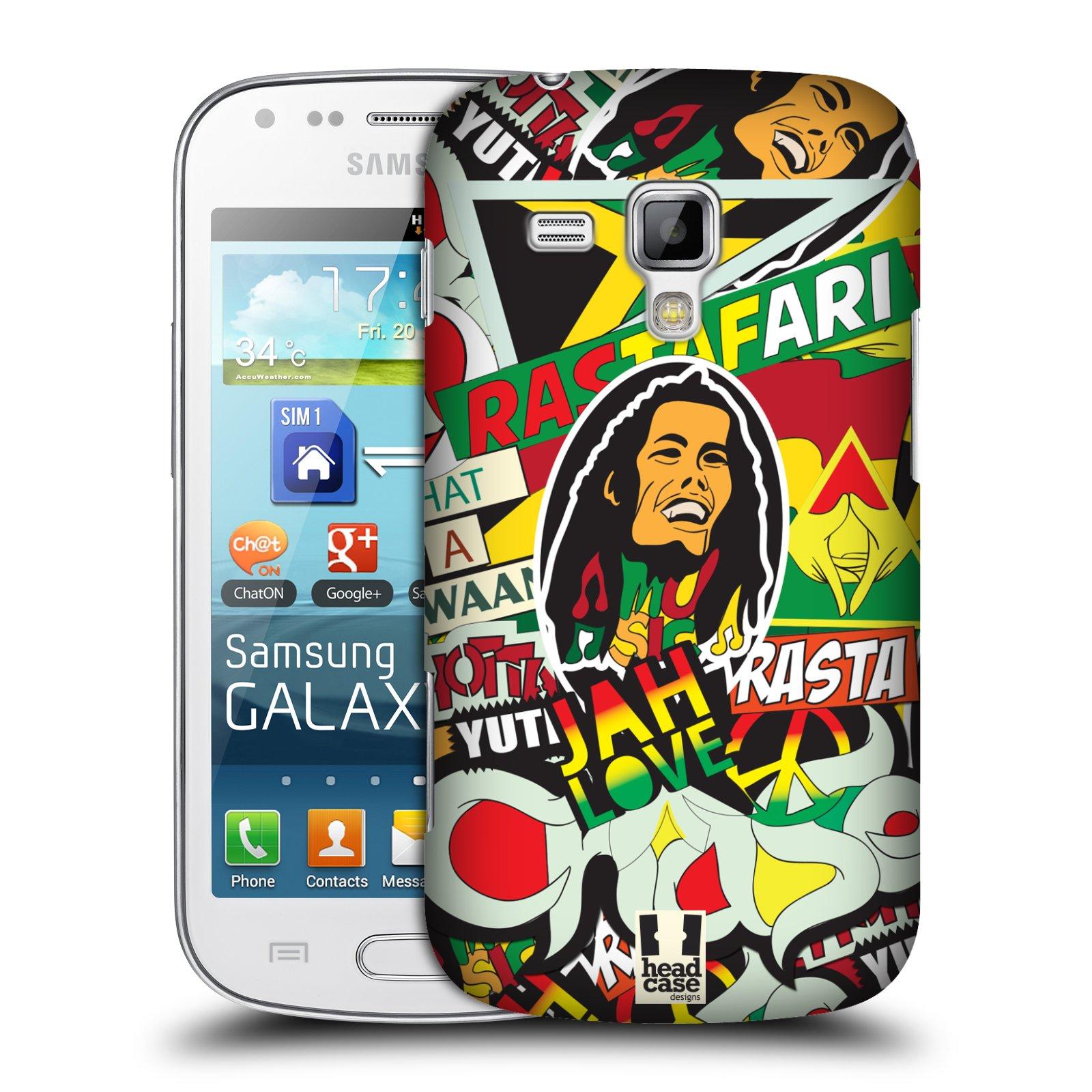 Plastové pouzdro na mobil Samsung Galaxy S Duos HEAD CASE RASTA (Kryt či obal na mobilní telefon Samsung Galaxy S Duos GT-S7562)