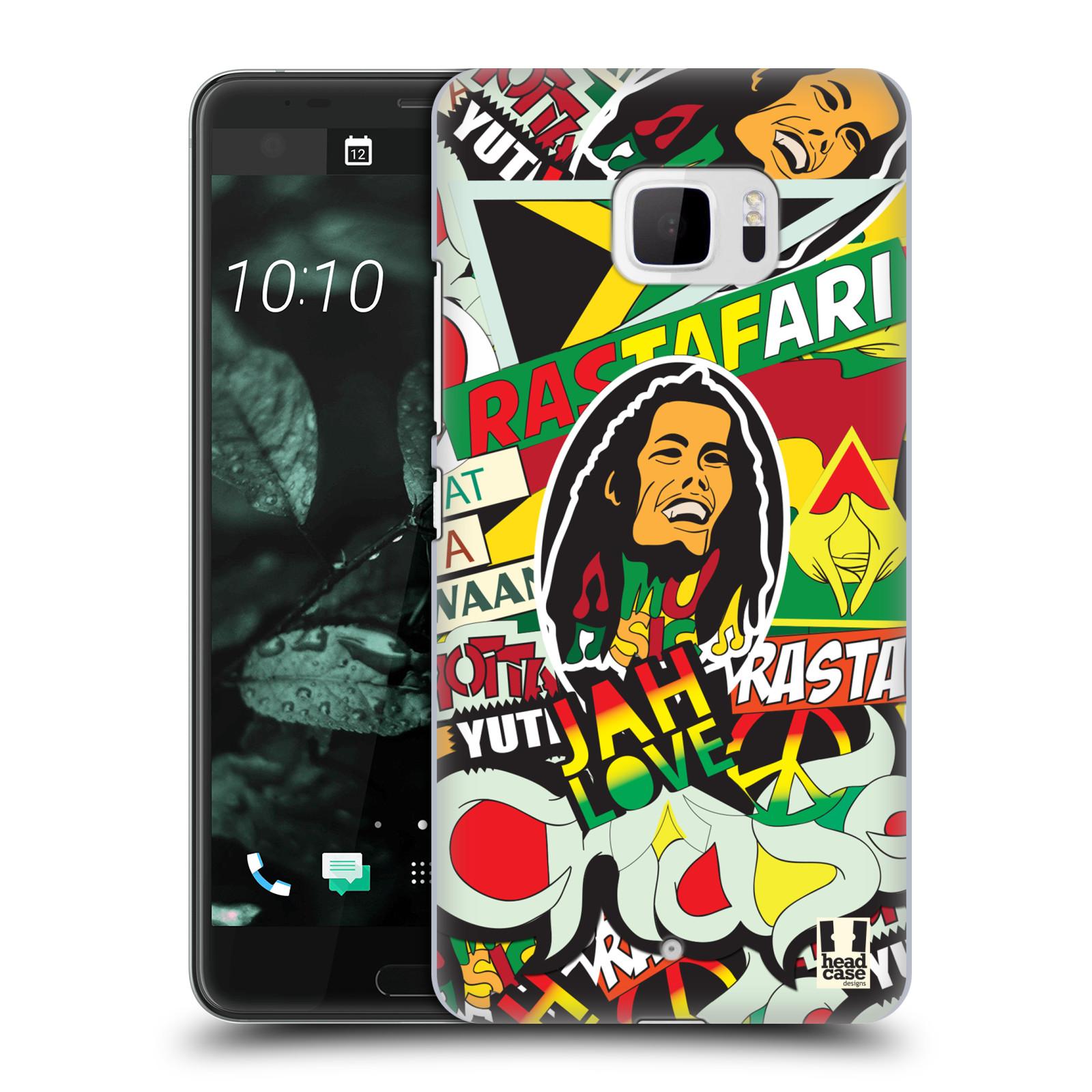 Plastové pouzdro na mobil HTC U Ultra Head Case - RASTA (Plastový kryt či obal na mobilní telefon HTC U Ultra (99HALT015-00))
