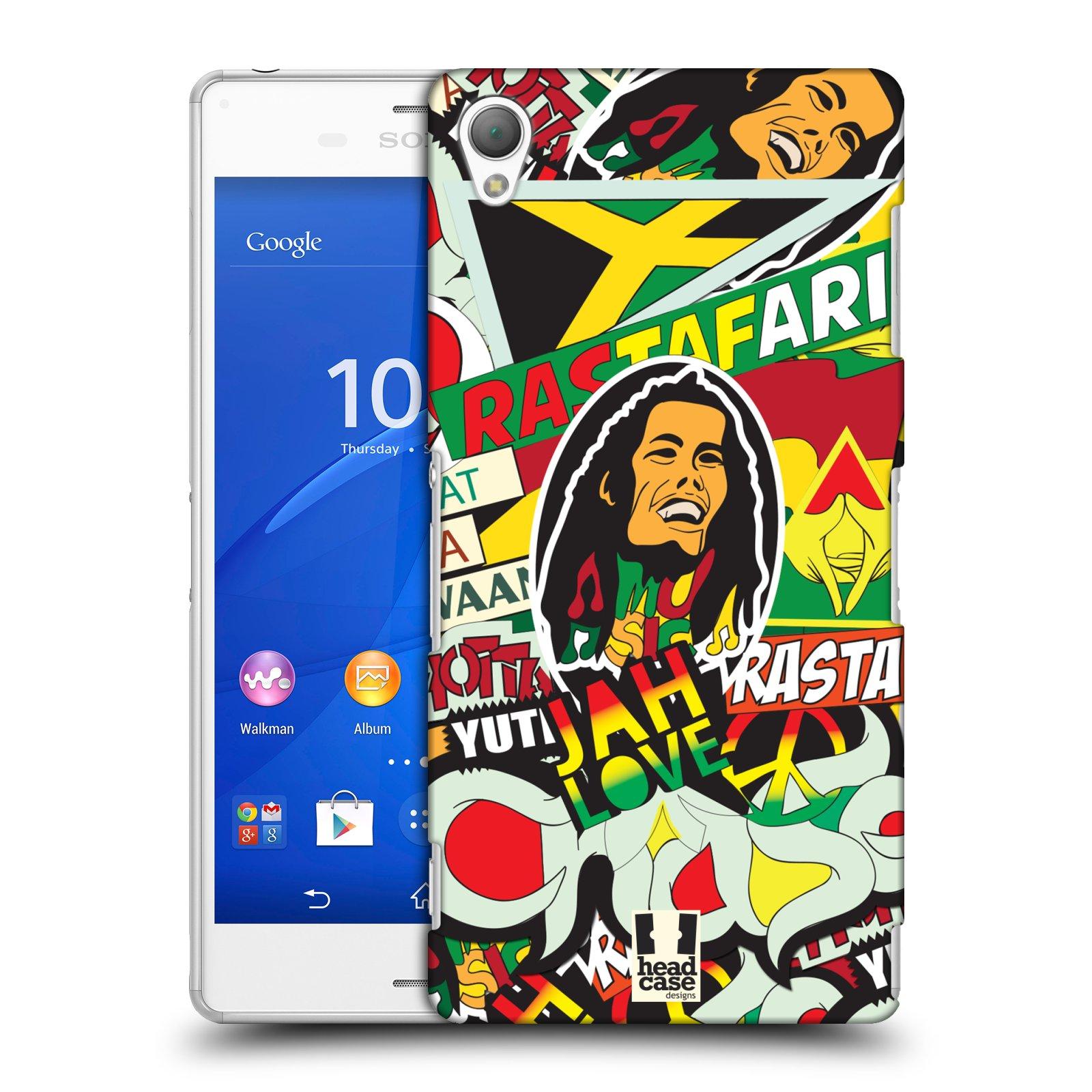 Plastové pouzdro na mobil Sony Xperia Z3 D6603 HEAD CASE RASTA (Kryt či obal na mobilní telefon Sony Xperia Z3 )