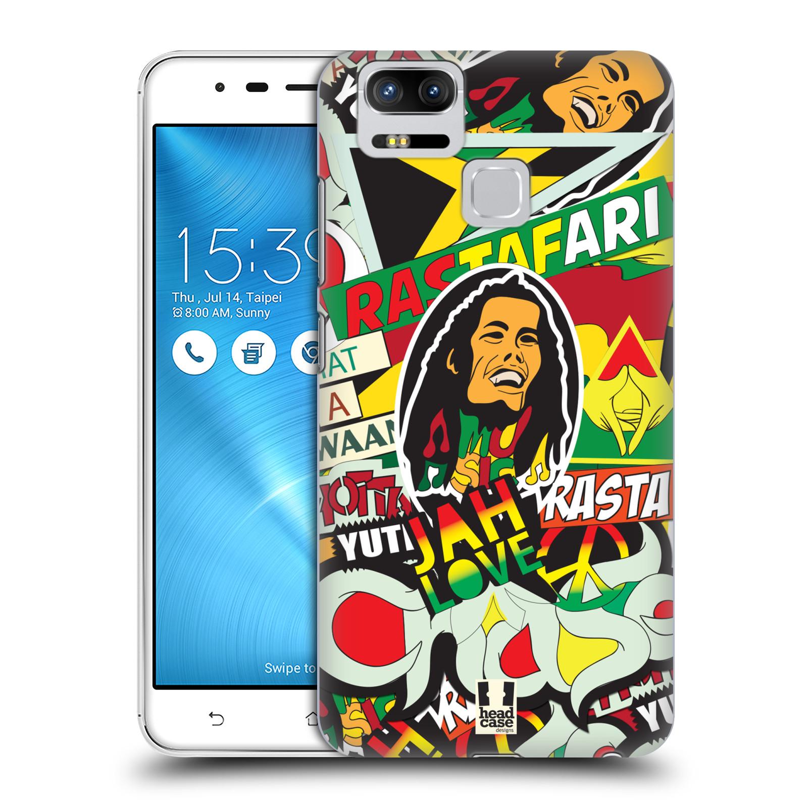 Plastové pouzdro na mobil Asus ZenFone 3 ZOOM ZE553KL - Head Case - RASTA (Plastový kryt či obal na mobilní telefon Asus ZenFone 3 ZOOM ZE553KL s motivem RASTA )