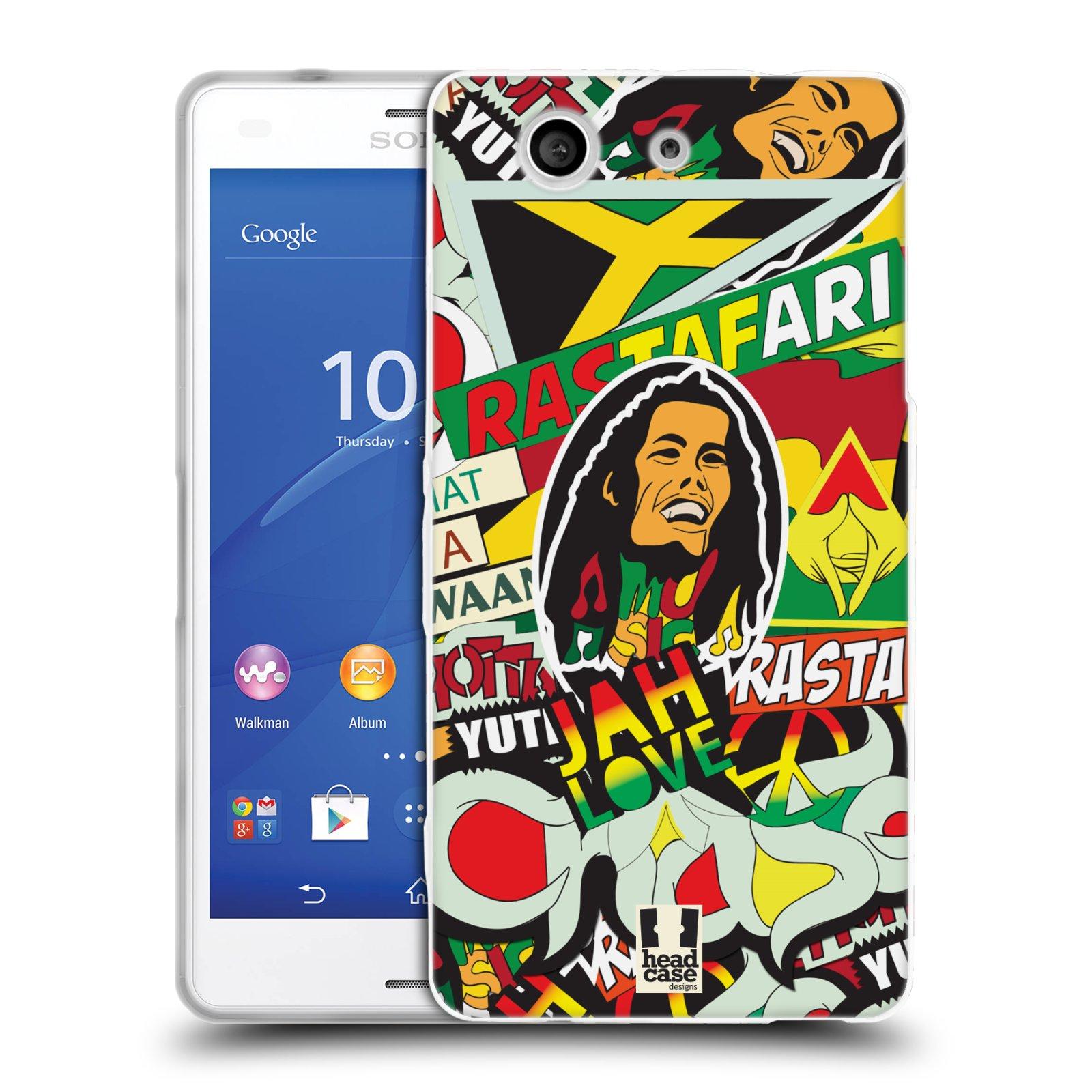 Silikonové pouzdro na mobil Sony Xperia Z3 Compact D5803 HEAD CASE RASTA (Silikonový kryt či obal na mobilní telefon Sony Xperia Z3 Compact)