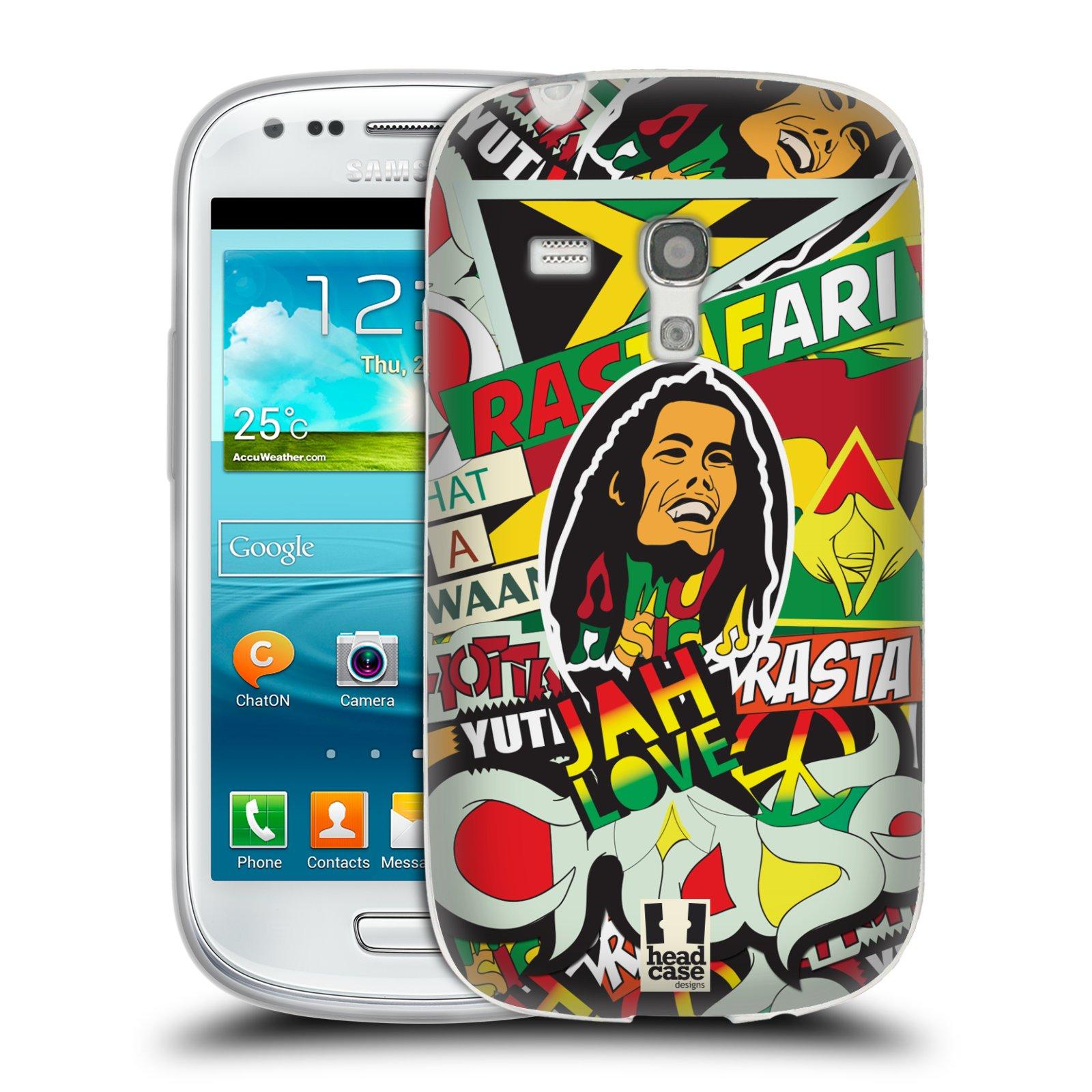 Silikonové pouzdro na mobil Samsung Galaxy S III Mini HEAD CASE RASTA (Silikonový kryt či obal na mobilní telefon Samsung Galaxy S III Mini GT-i8190)