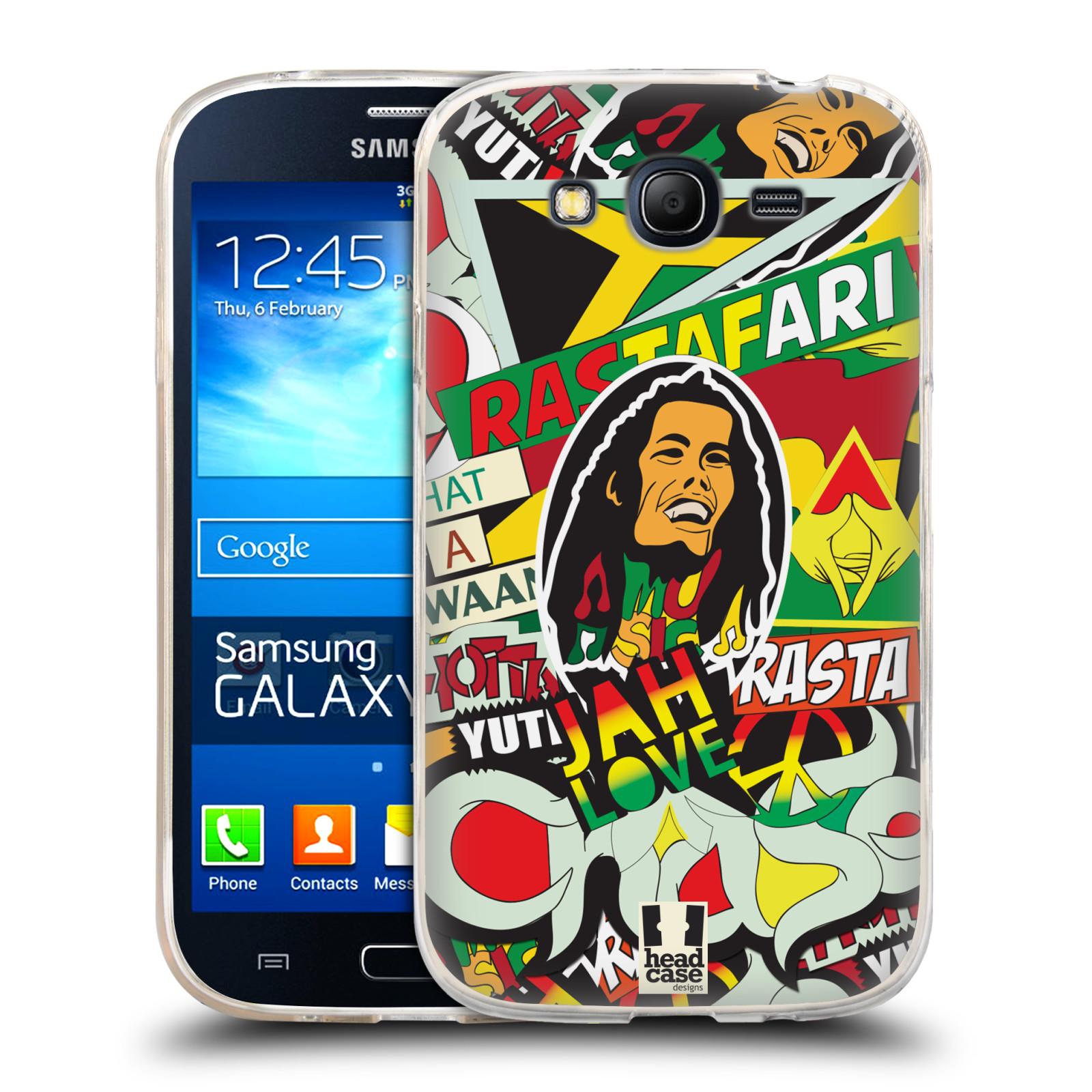 Silikonové pouzdro na mobil Samsung Galaxy Grand Neo Plus HEAD CASE RASTA (Silikonový kryt či obal na mobilní telefon Samsung Galaxy Grand Neo Plus Duos GT-I9060i)