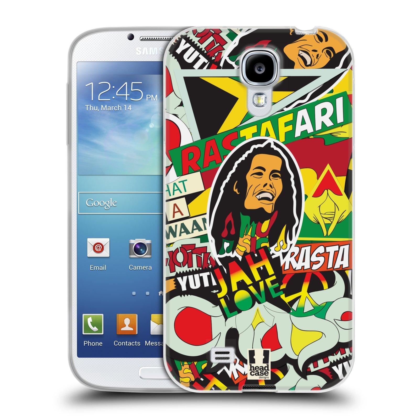 Silikonové pouzdro na mobil Samsung Galaxy S4 HEAD CASE RASTA (Silikonový kryt či obal na mobilní telefon Samsung Galaxy S4 GT-i9505 / i9500)