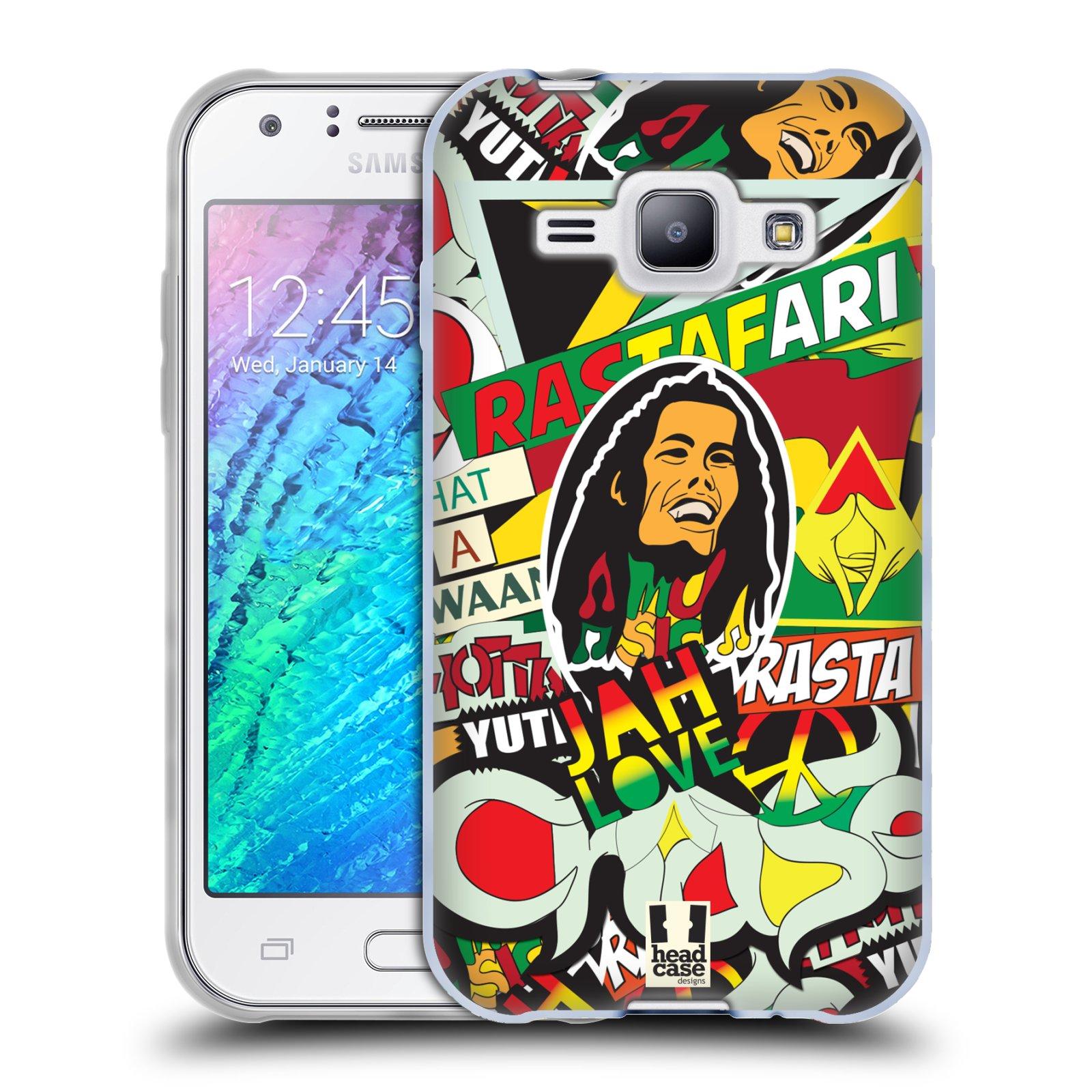 Silikonové pouzdro na mobil Samsung Galaxy J1 HEAD CASE RASTA (Silikonový kryt či obal na mobilní telefon Samsung Galaxy J1 a J1 Duos)