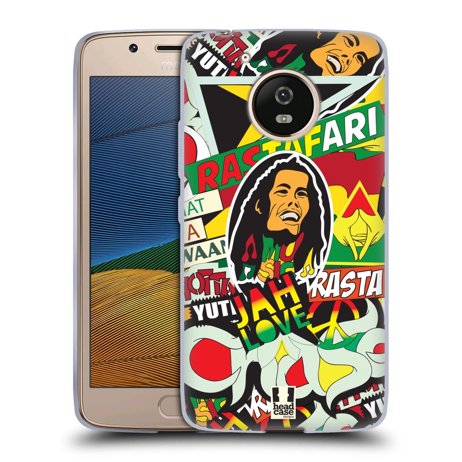 Silikonové pouzdro na mobil Lenovo Moto G5 - Head Case RASTA (Silikonový kryt či obal na mobilní telefon Lenovo Moto G5)