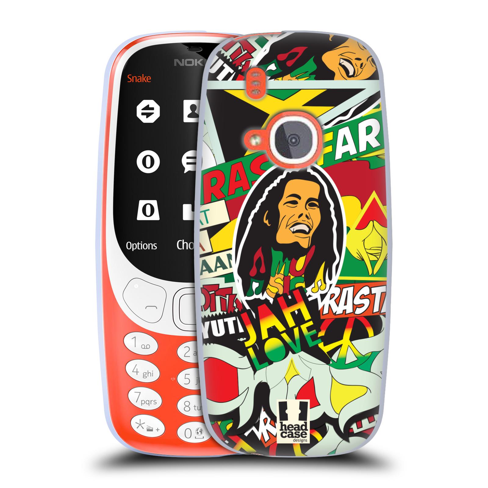 Silikonové pouzdro na mobil Nokia 3310 - Head Case - RASTA (Silikonový kryt či obal na mobilní telefon Nokia 3310 (2017) s motivem RASTA )