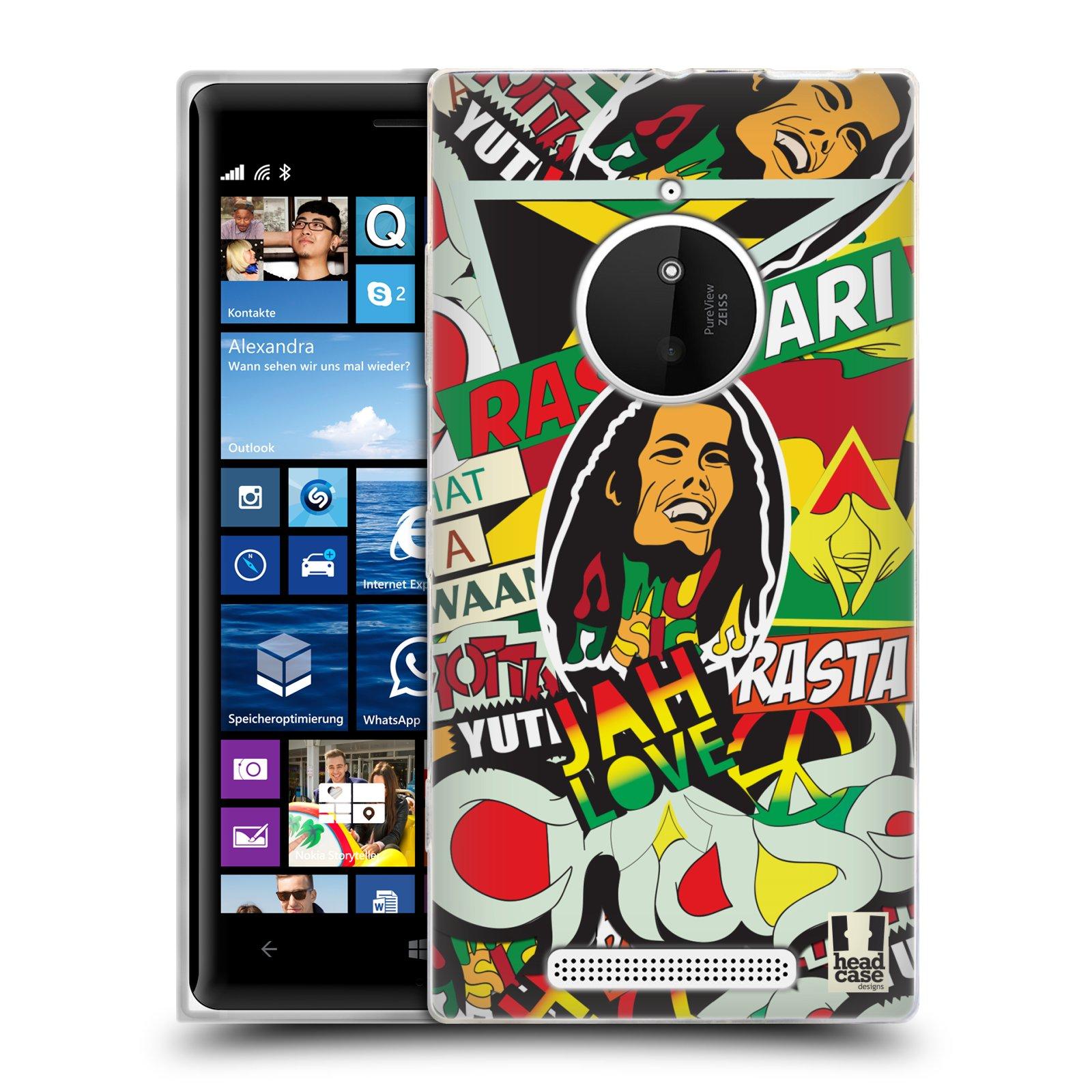 Silikonové pouzdro na mobil Nokia Lumia 830 HEAD CASE RASTA (Silikonový kryt či obal na mobilní telefon Nokia Lumia 830)