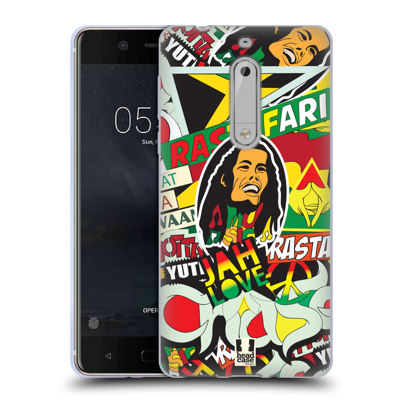 Silikonové pouzdro na mobil Nokia 5 Head Case - RASTA