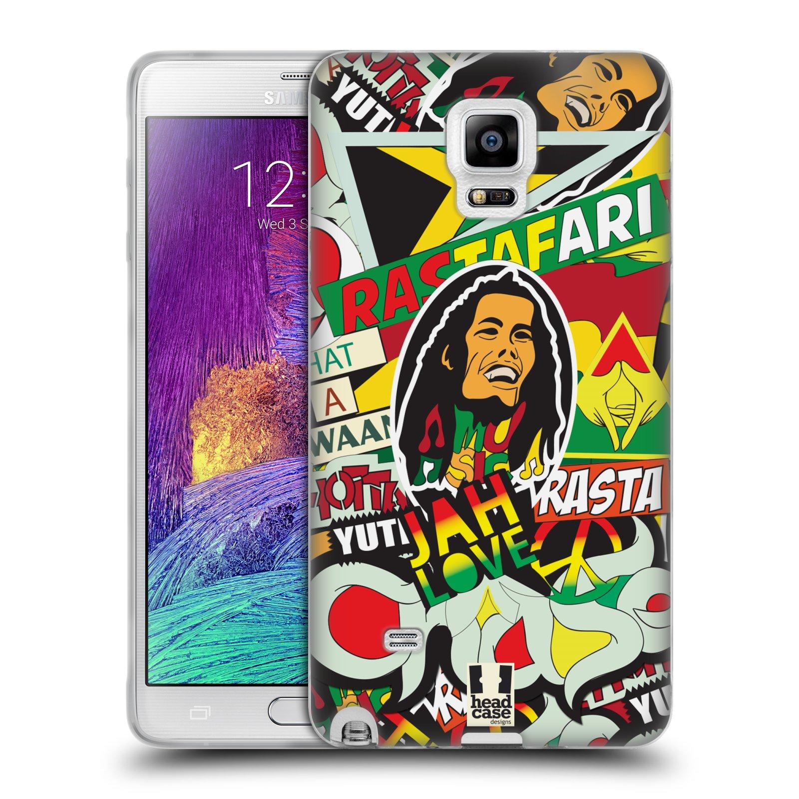 Silikonové pouzdro na mobil Samsung Galaxy Note 4 HEAD CASE RASTA (Silikonový kryt či obal na mobilní telefon Samsung Galaxy Note 4 SM-N910F)