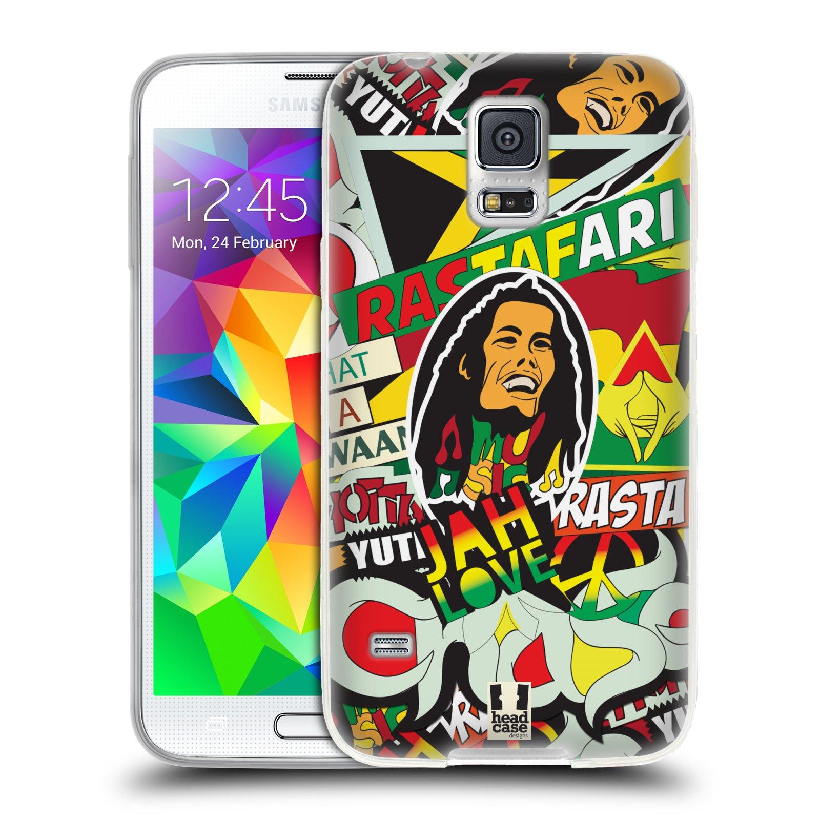 Silikonové pouzdro na mobil Samsung Galaxy S5 HEAD CASE RASTA (Silikonový kryt či obal na mobilní telefon Samsung Galaxy S5 SM-G900F)
