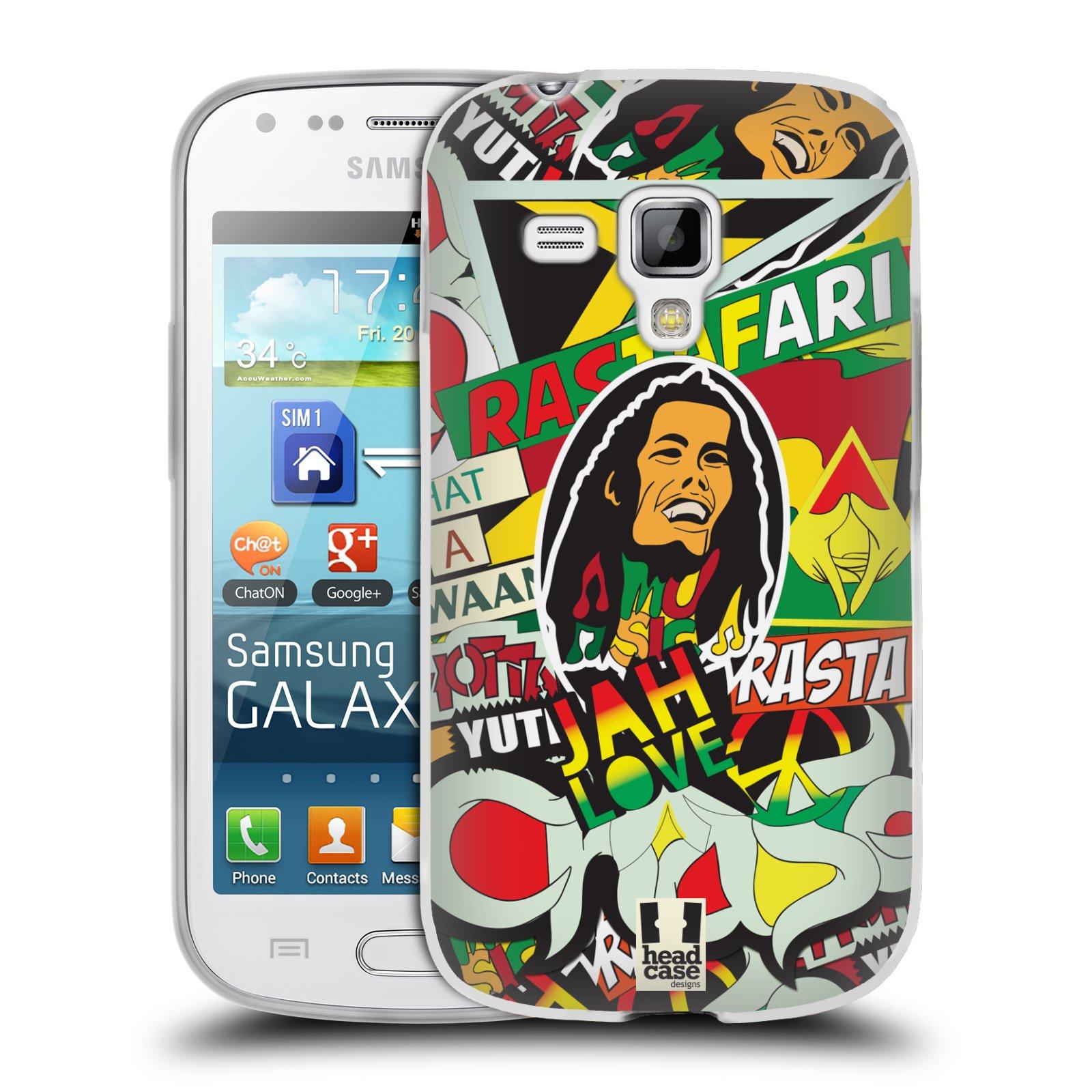 Silikonové pouzdro na mobil Samsung Galaxy Trend HEAD CASE RASTA (Silikonový kryt či obal na mobilní telefon Samsung Galaxy Trend GT-S7560)