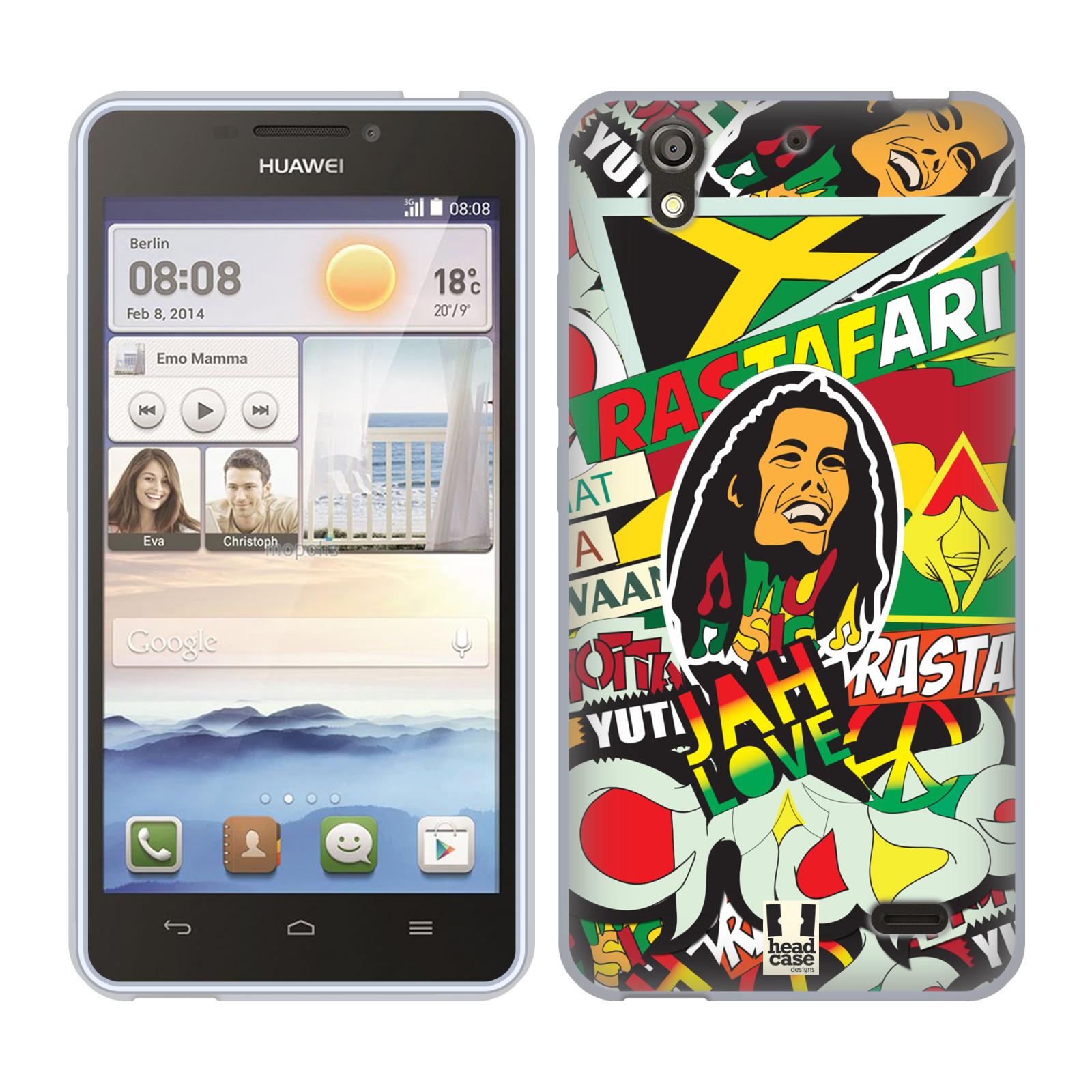 Silikonové pouzdro na mobil Huawei Ascend Y530 HEAD CASE RASTA (Silikonový kryt či obal na mobilní telefon Huawei Ascend Y530)