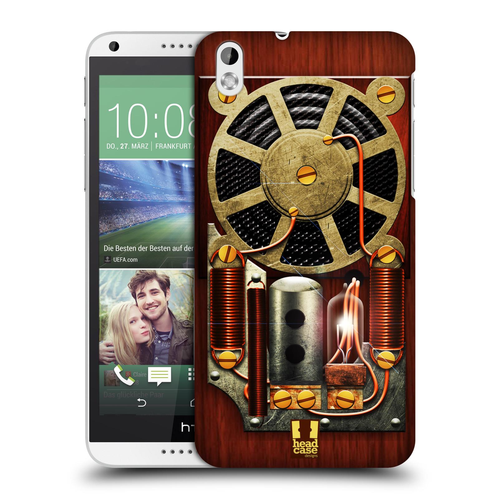 Plastové pouzdro na mobil HTC Desire 816 HEAD CASE STEAMPUNK RÁDIO