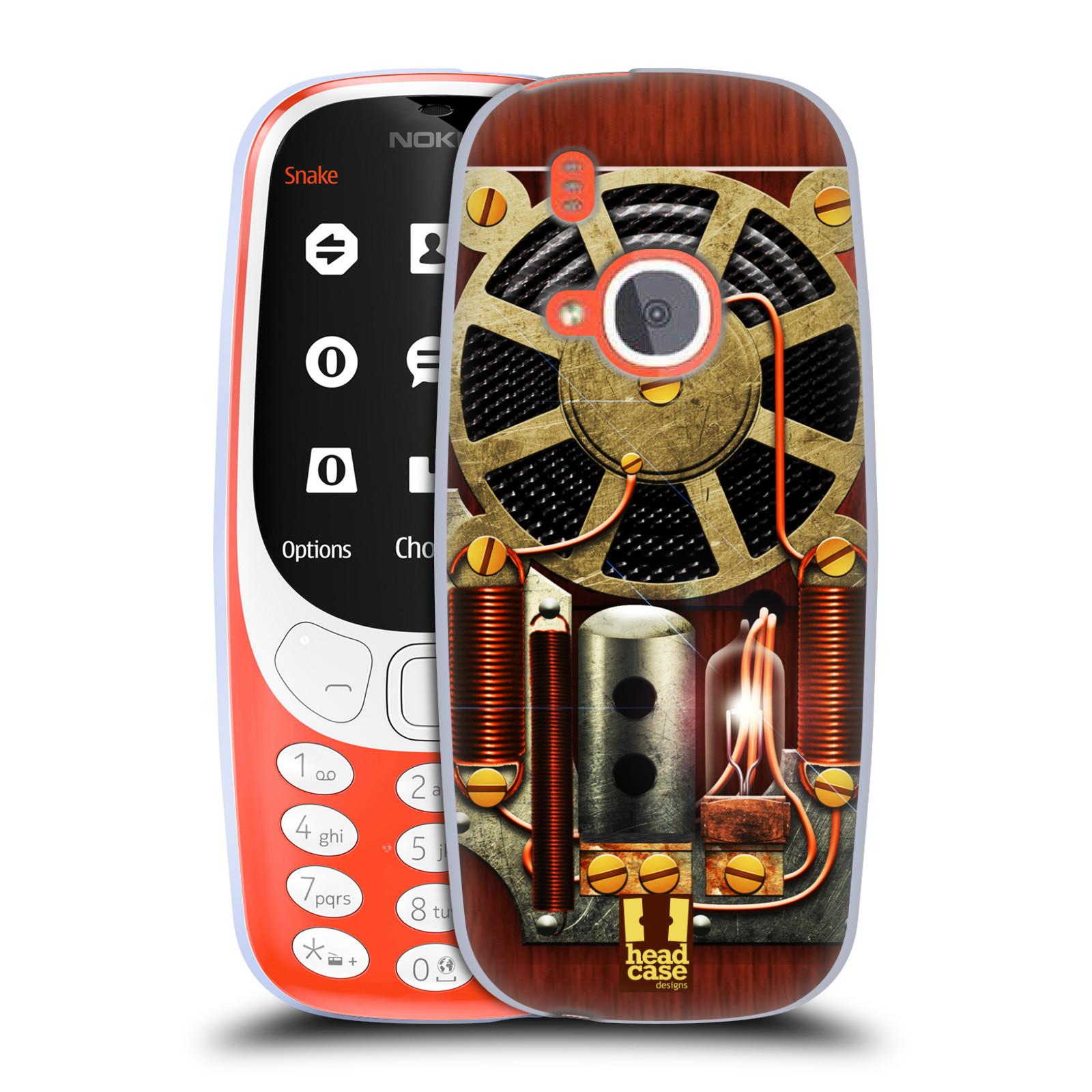 Silikonové pouzdro na mobil Nokia 3310 - Head Case - STEAMPUNK RÁDIO