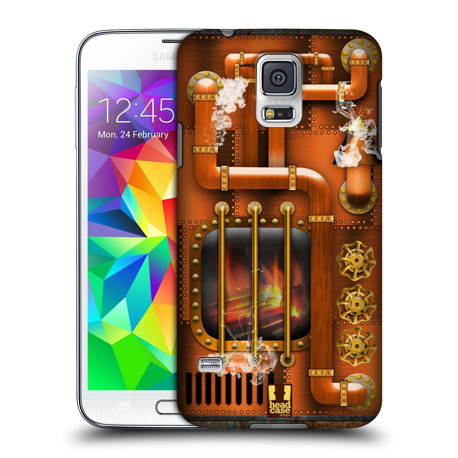 Plastové pouzdro na mobil Samsung Galaxy S5 Neo HEAD CASE STEAMPUNK PARNÍK