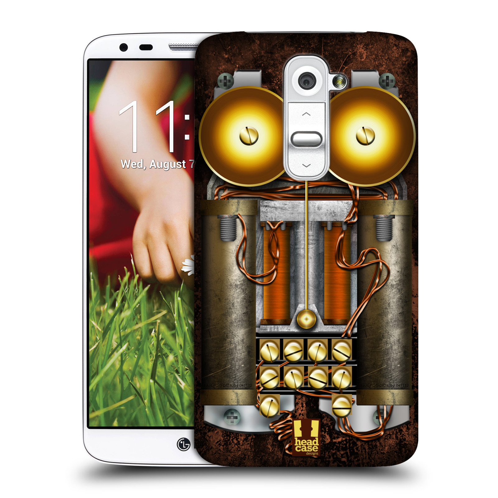 Plastové pouzdro na mobil LG G2 HEAD CASE STEAMPUNK TELEFON (Kryt či obal na mobilní telefon LG G2 D802)
