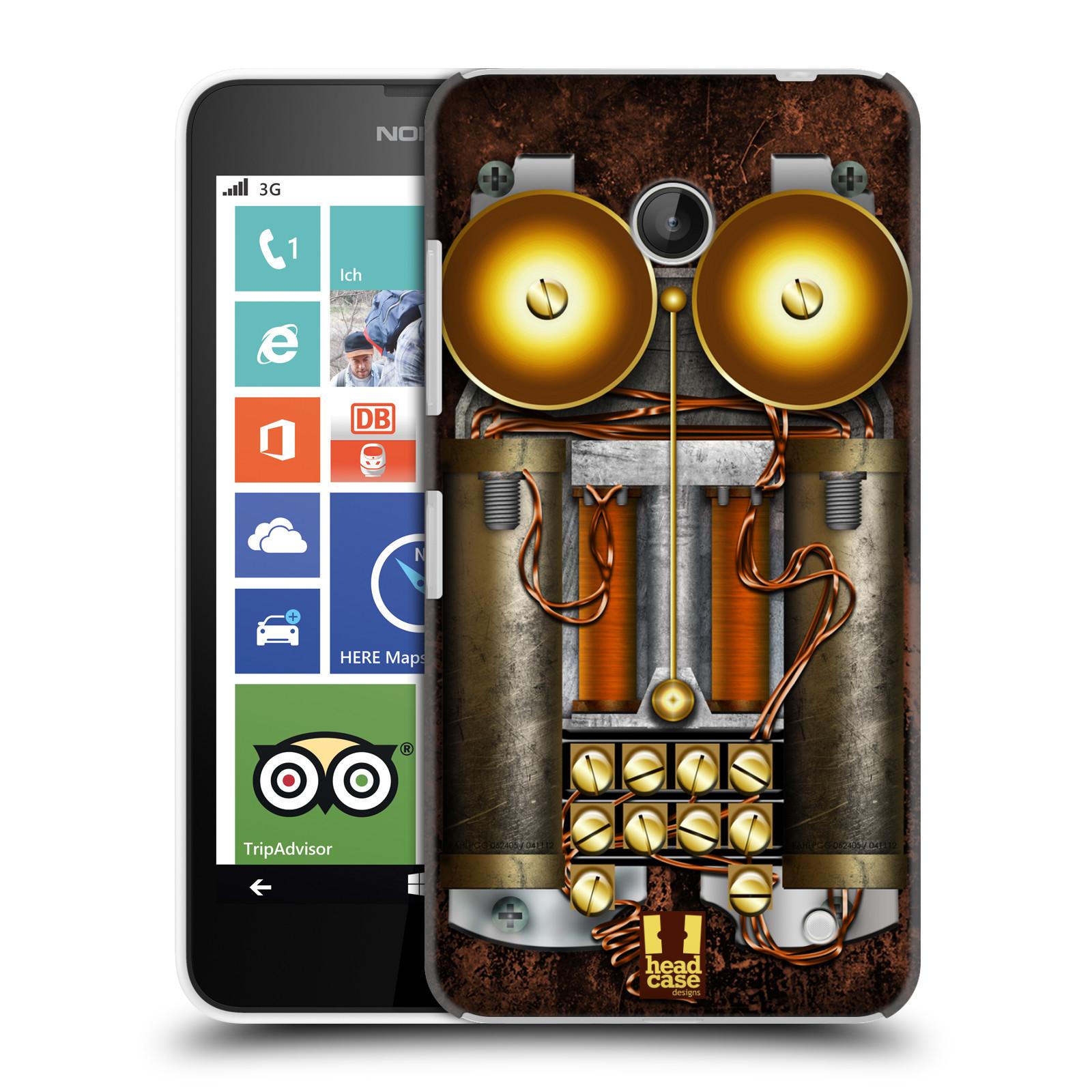 Plastové pouzdro na mobil Nokia Lumia 630 HEAD CASE STEAMPUNK TELEFON (Kryt či obal na mobilní telefon Nokia Lumia 630 a Nokia Lumia 630 Dual SIM)